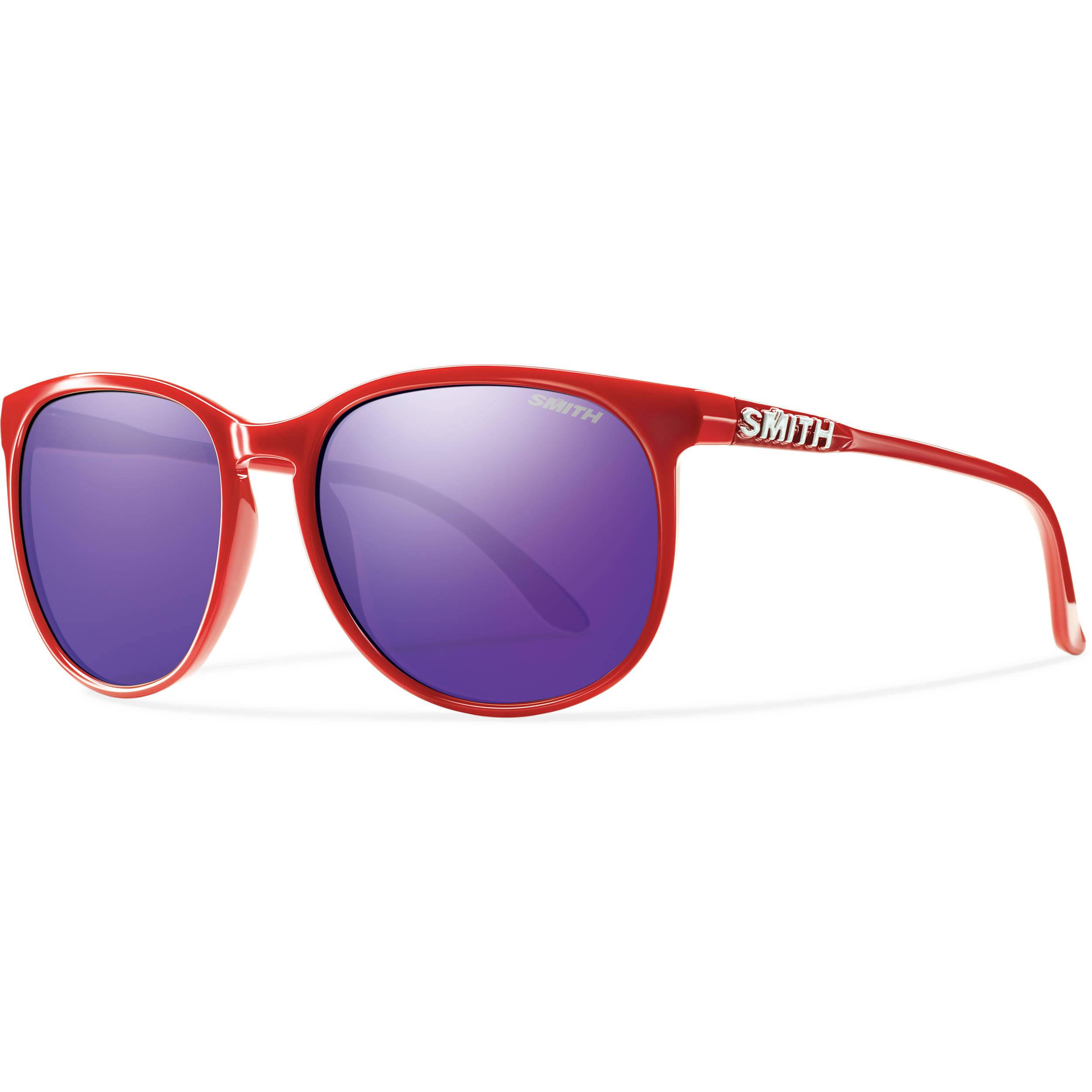 48b290f1e5 Smith Optics Mt Shasta Unisex Sunglasses (Red Frames   Purple Sol-X  Carbonic TLT Lenses)