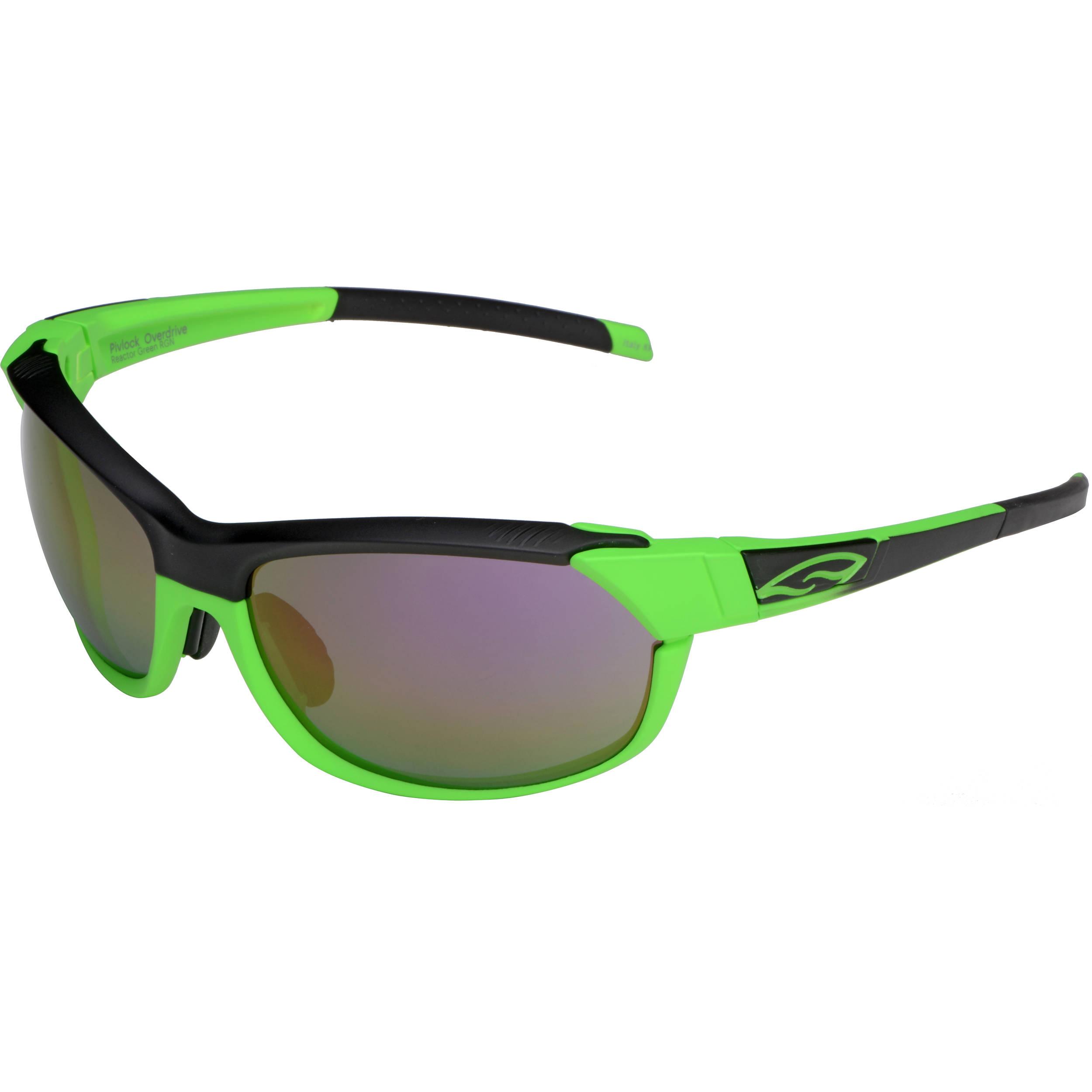 5254ad316e8 Smith Optics PivLock Overdrive Sunglasses (Reactor Green - Purple Sol X  Mirror Lens)