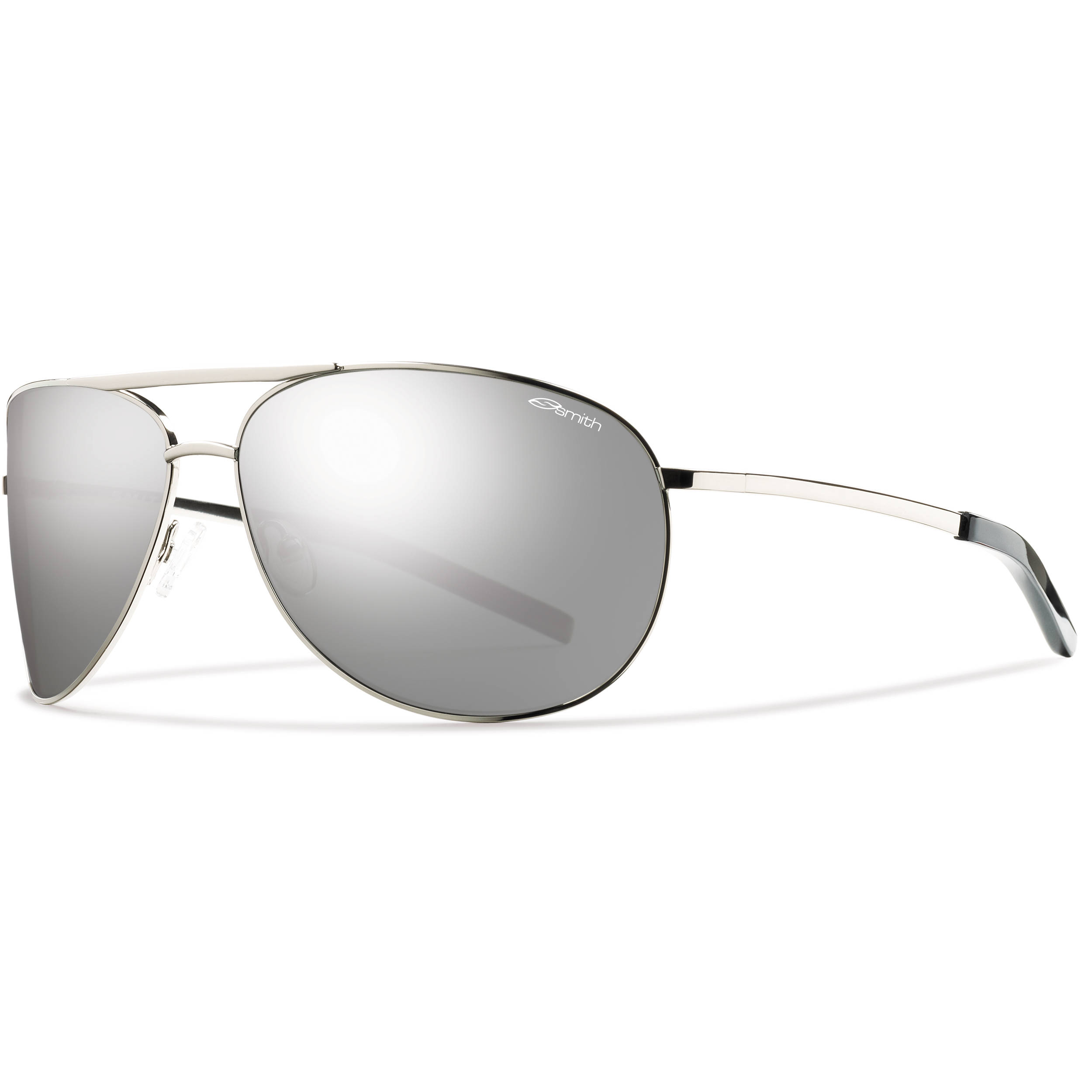 ca276fc8d6 Smith Optics Serpico Sunglasses (Silver - Polarized Platinum Carbonic TLT)