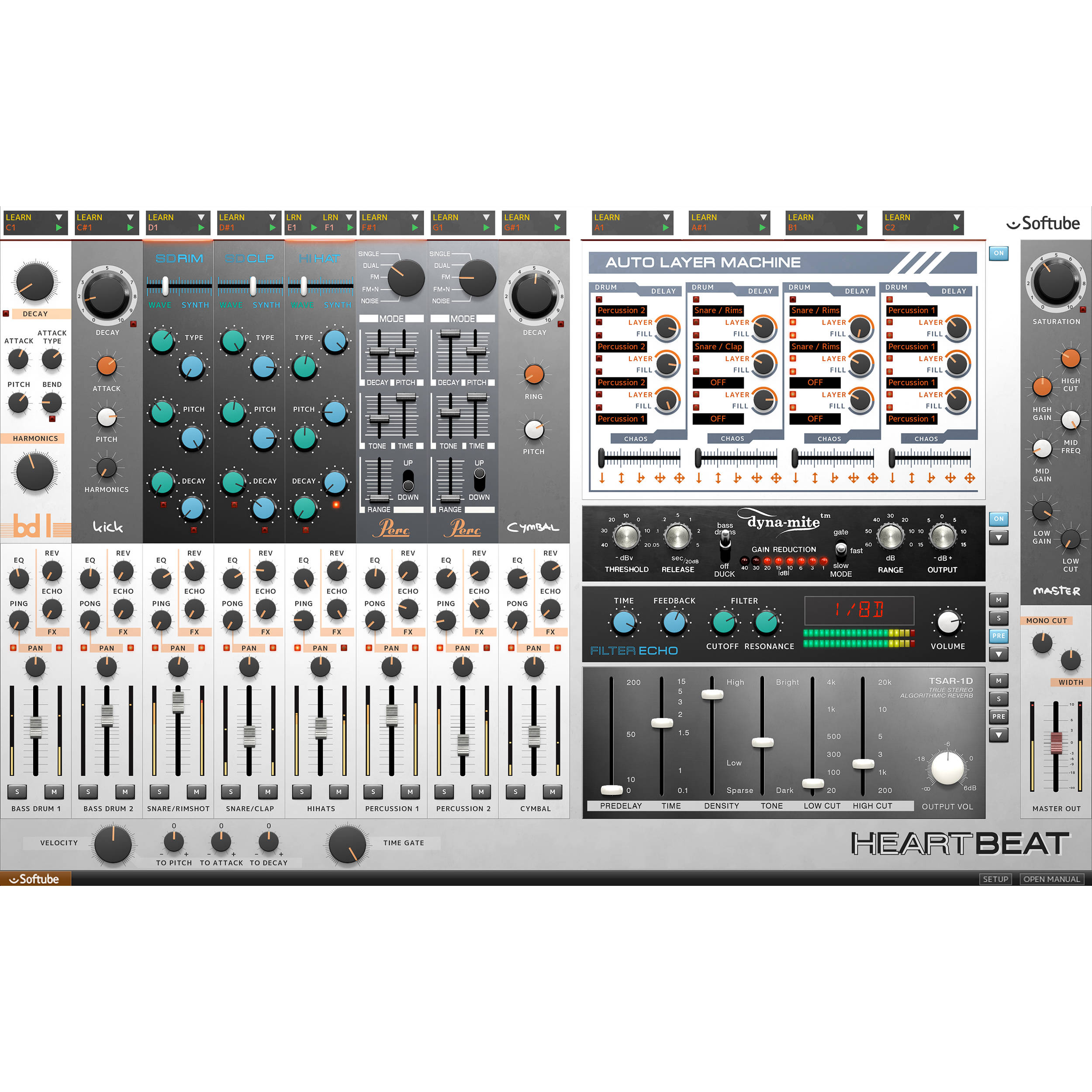 softube heartbeat drum synthesizer plug in download sft hb 1. Black Bedroom Furniture Sets. Home Design Ideas