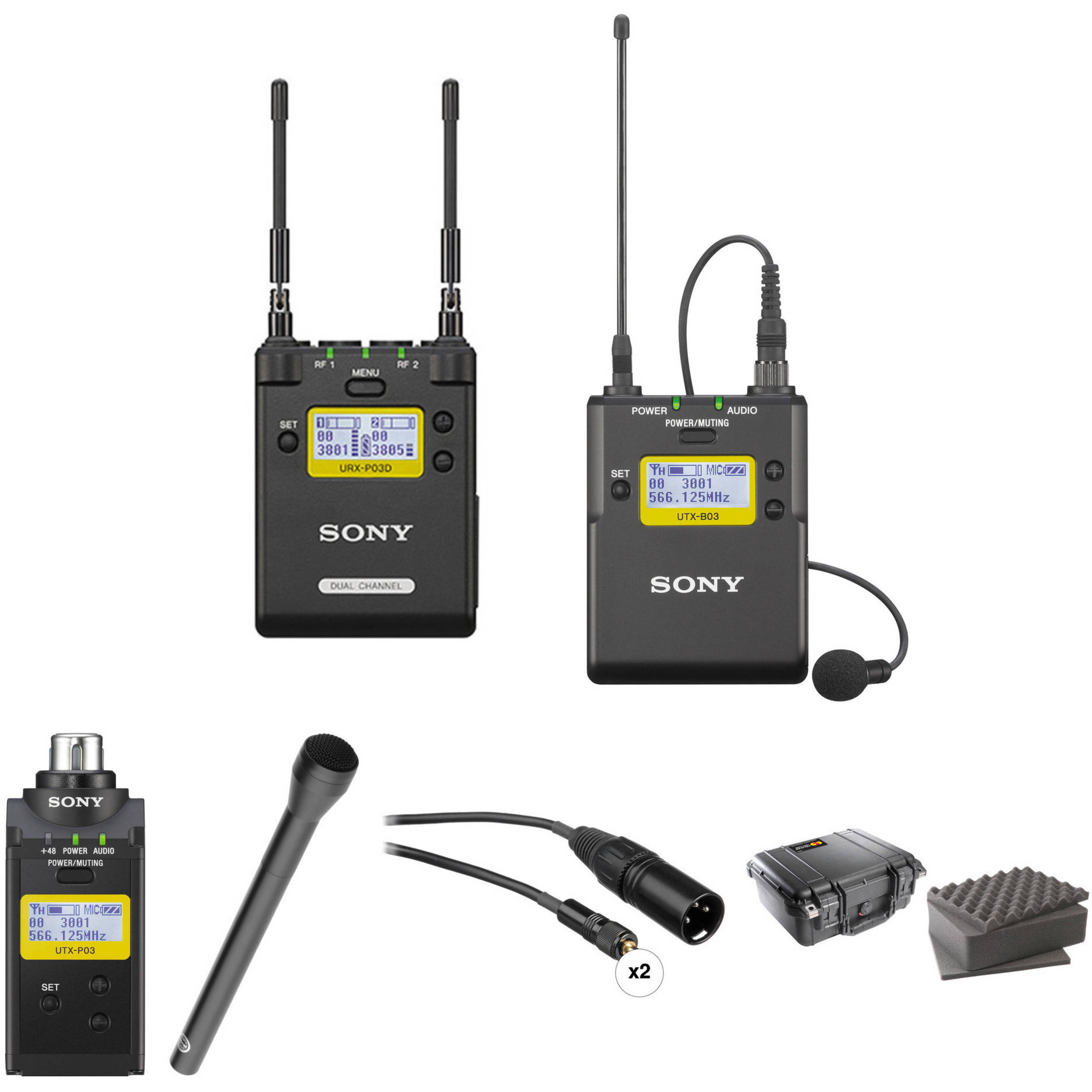 Sony 2 Channel Receiver With Bodypack Plug On Transmitter Bh Infrared Ir Circuit Circuits Handheld Mic Kit