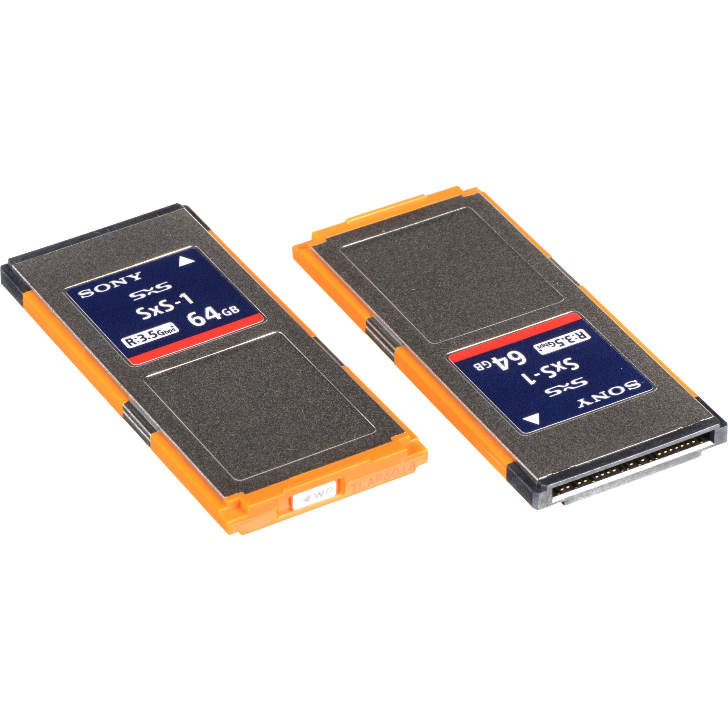 sony 64gb sxs1 g1c series memory card 2pack 2sbs64g1c
