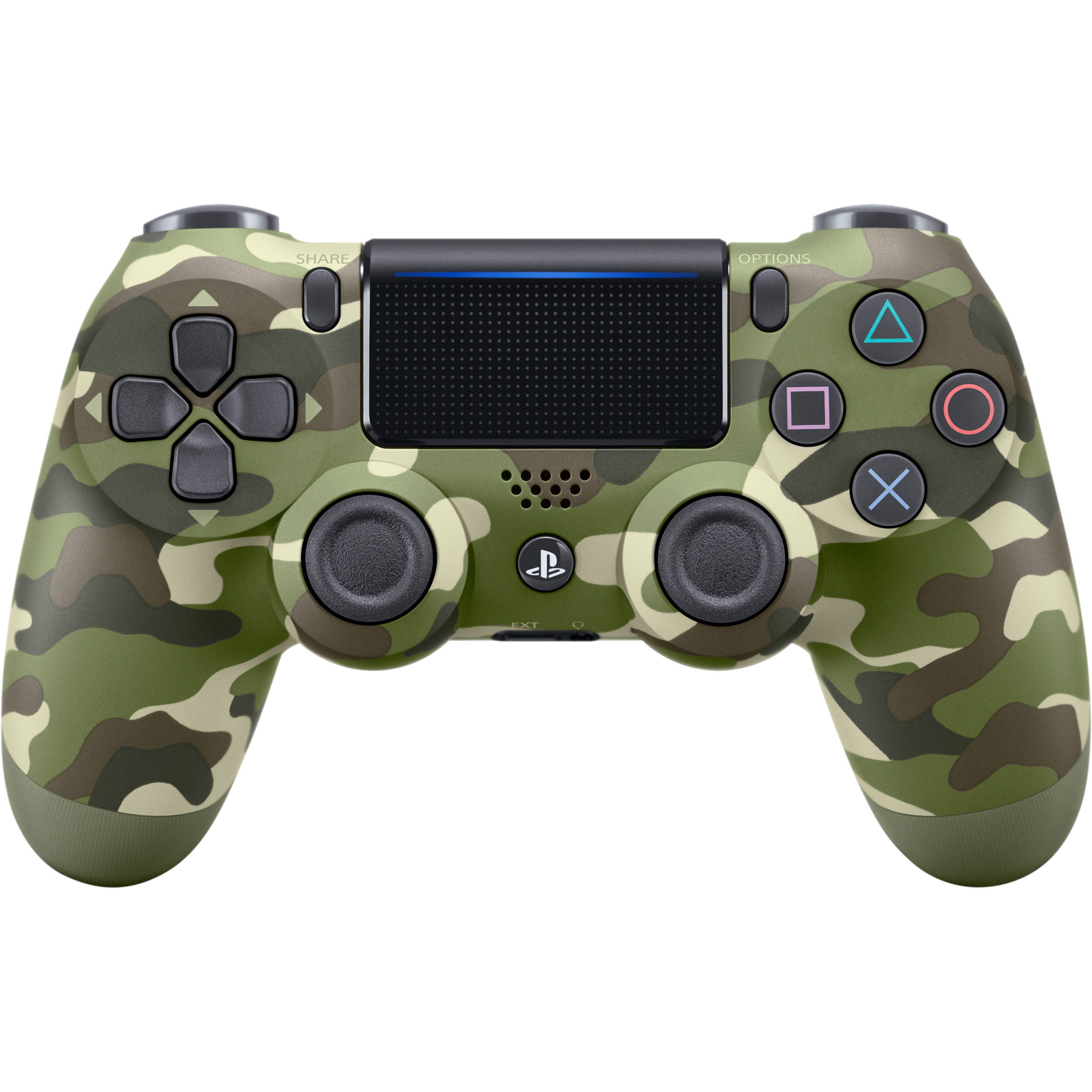 Sony Dualshock 4 Wireless Controller  Green Camo  3001544 B U0026h