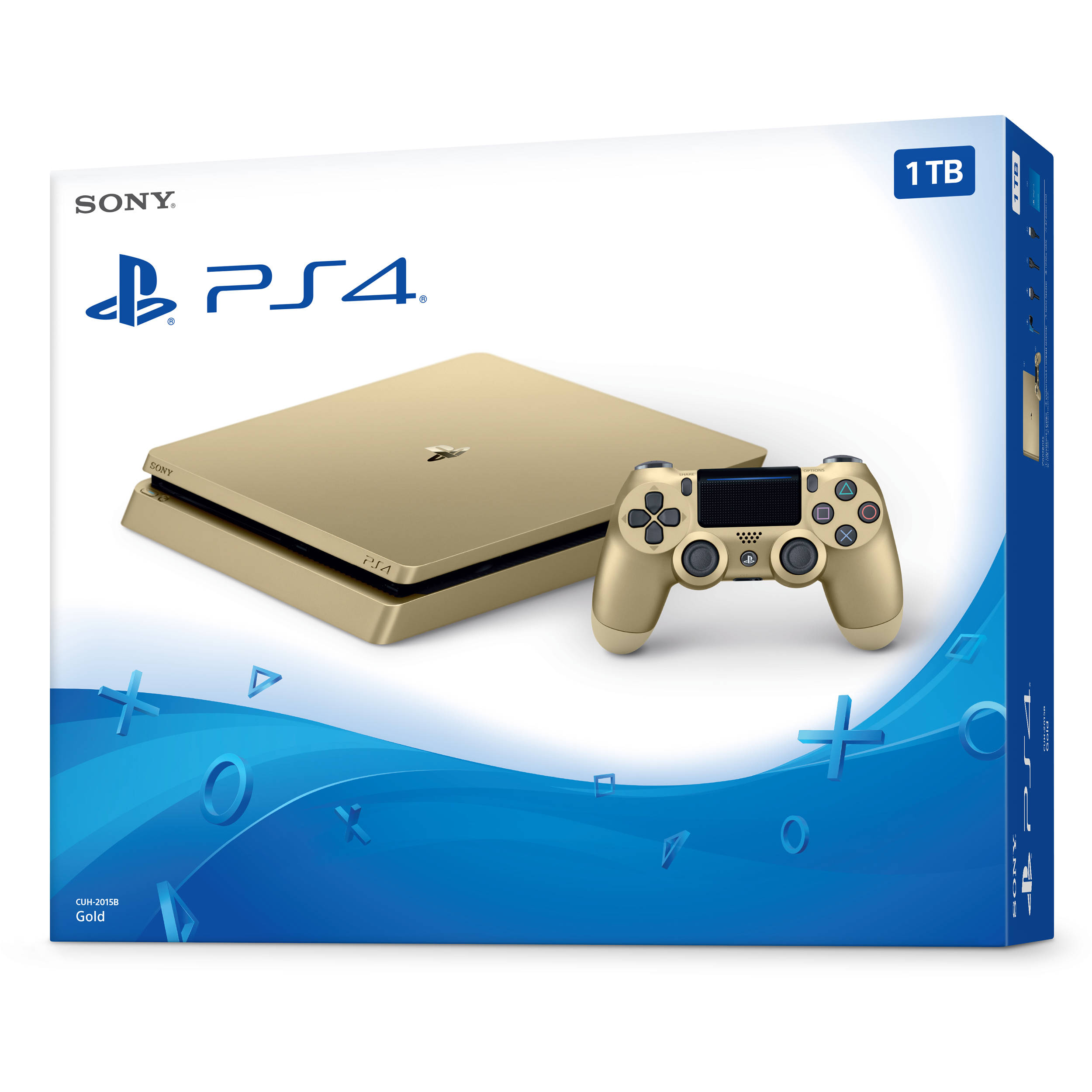 sony ps4 console. sony playstation 4 slim gaming console (gold) ps4
