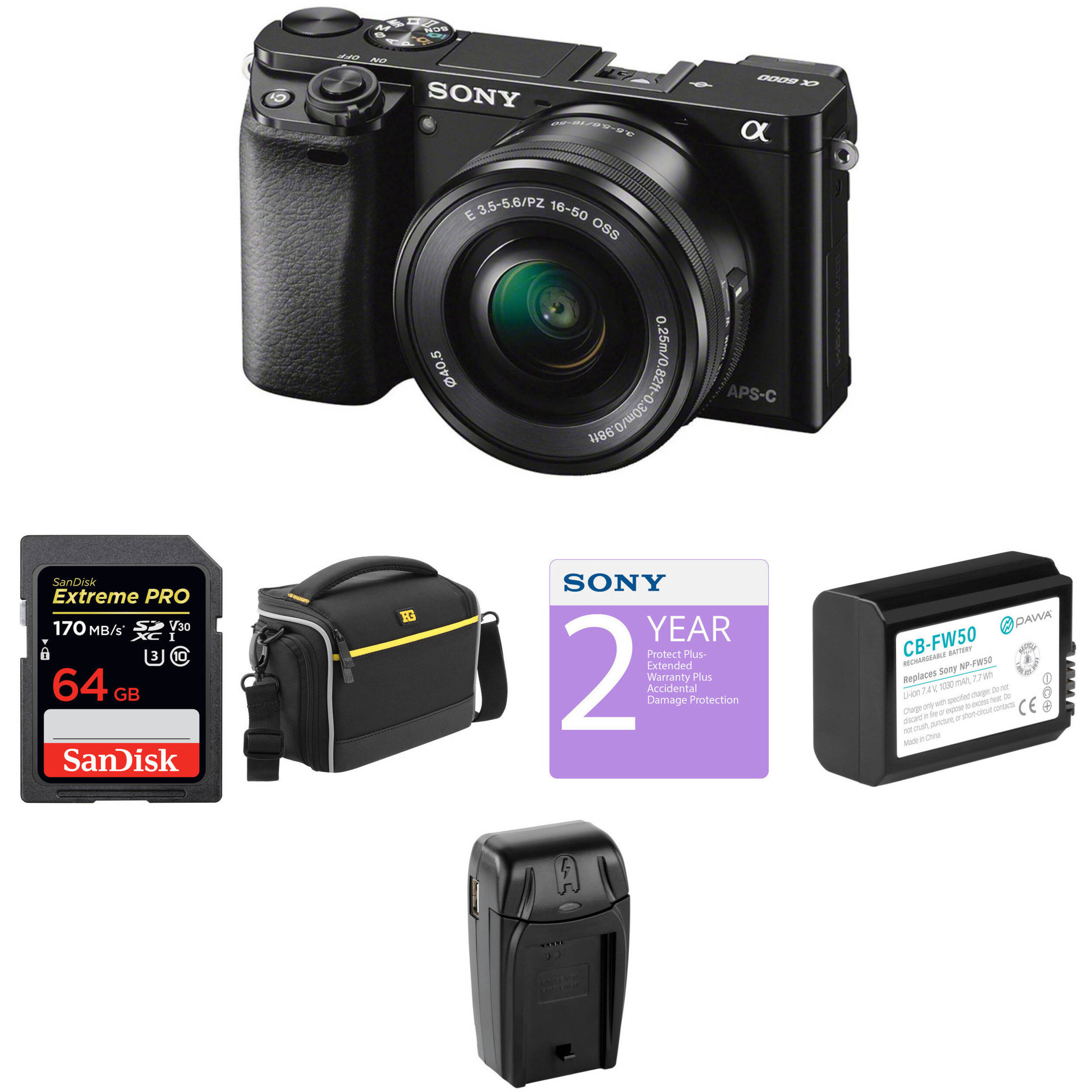 Sony Alpha A6000 Mirrorless Digital Camera With 16 50mm Lens Bh Circuit Construction Kit Acdc Virtual Lab From The Options Menu Deluxe Black