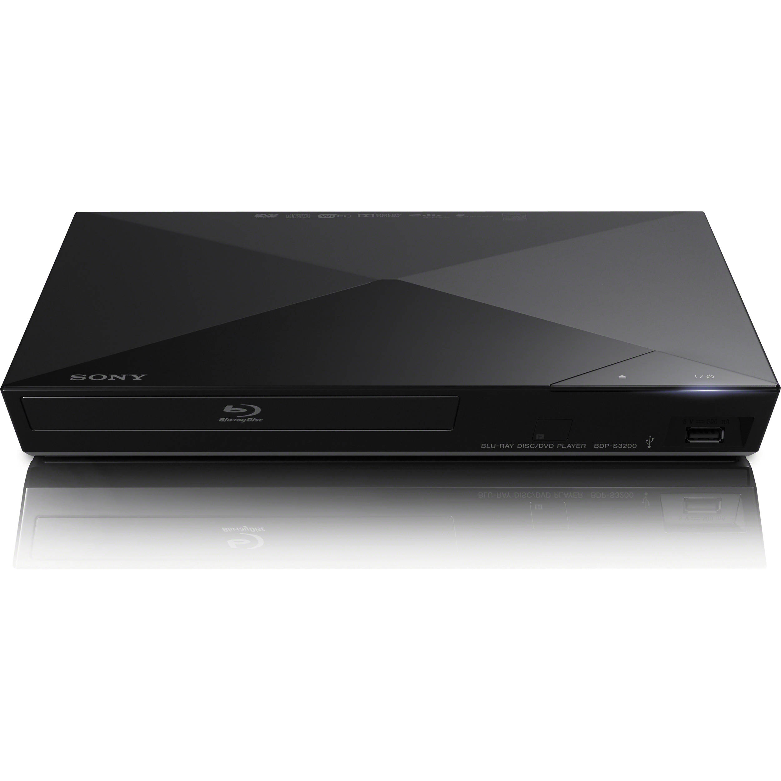 sony bdp s3200 wi fi blu ray disc player bdp s3200 b h photo. Black Bedroom Furniture Sets. Home Design Ideas