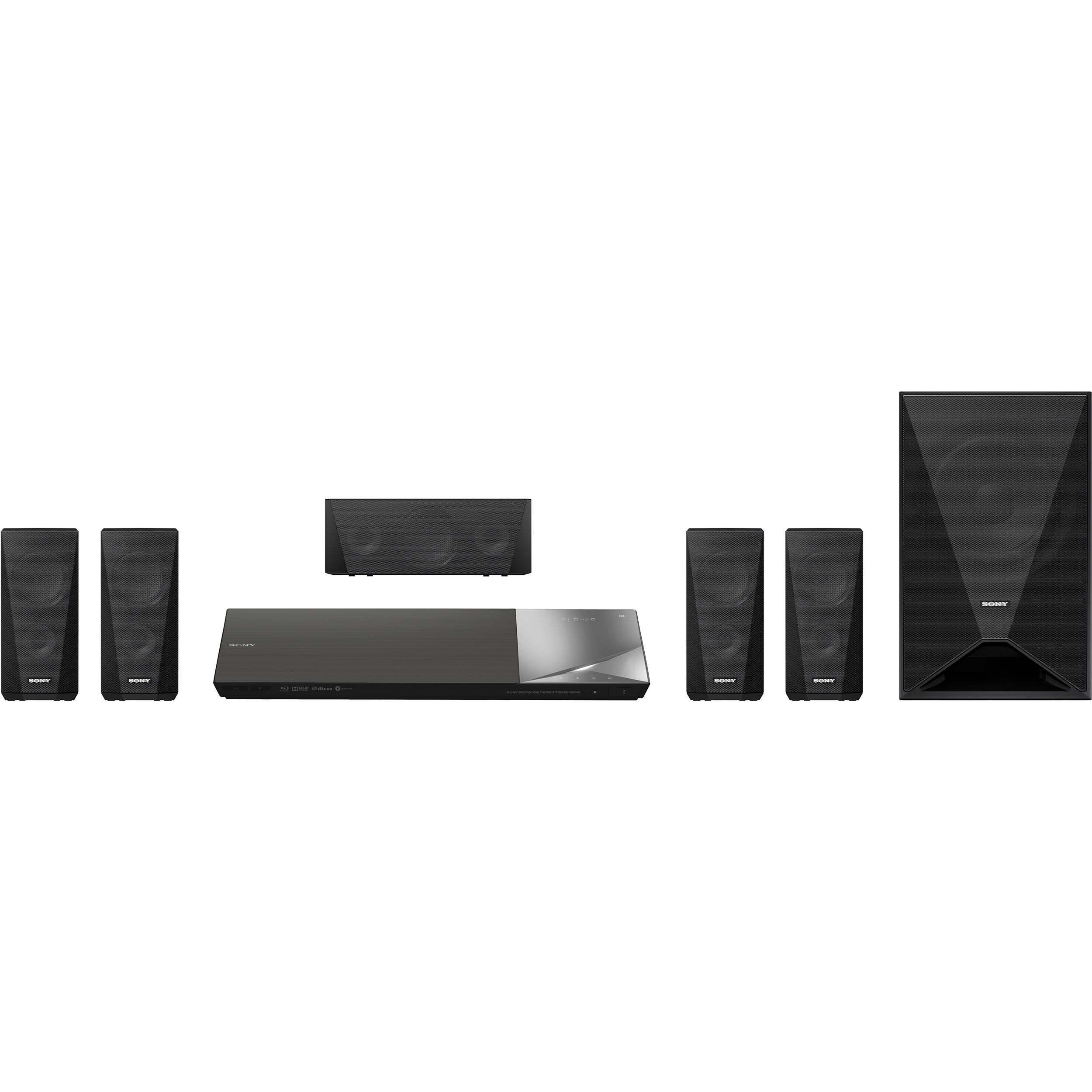 Sony bdv n5200w 5 1 channel 1000w 3d smart blu ray home theater system