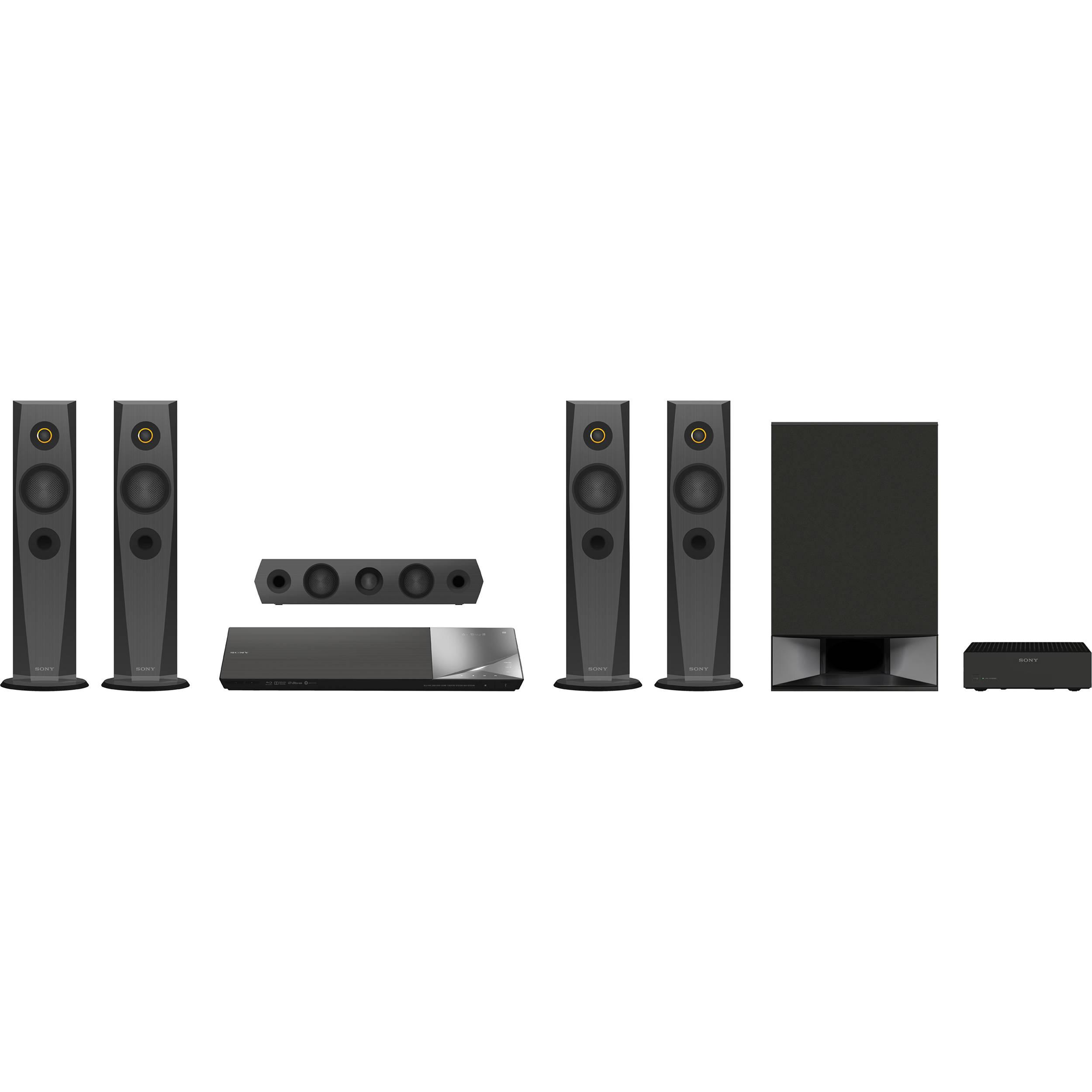 sony bdv n7200w 5 1 channel 1200w 3d smart blu ray bdvn7200w b h. Black Bedroom Furniture Sets. Home Design Ideas