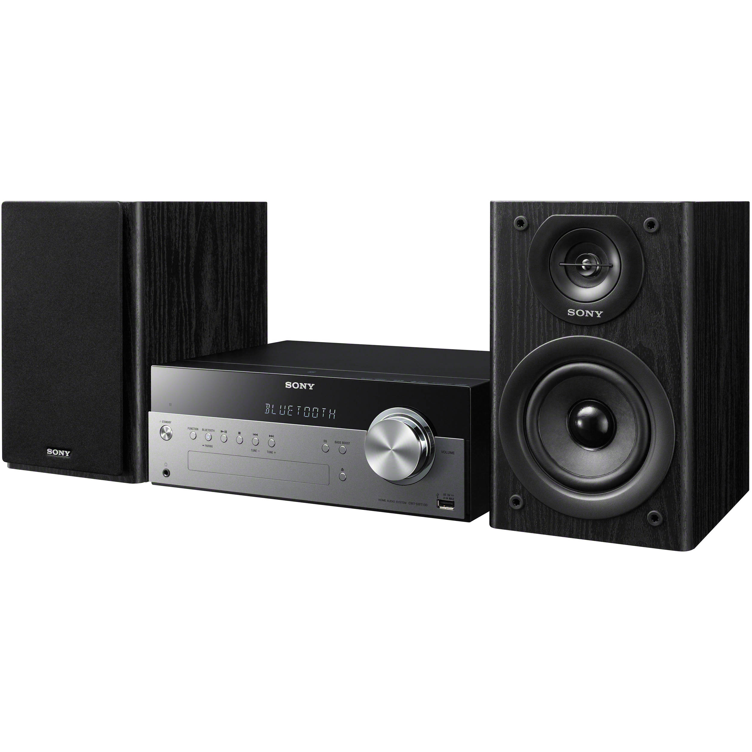 sony cmt sbt100 micro music system with bluetooth cmt sbt100 b h. Black Bedroom Furniture Sets. Home Design Ideas