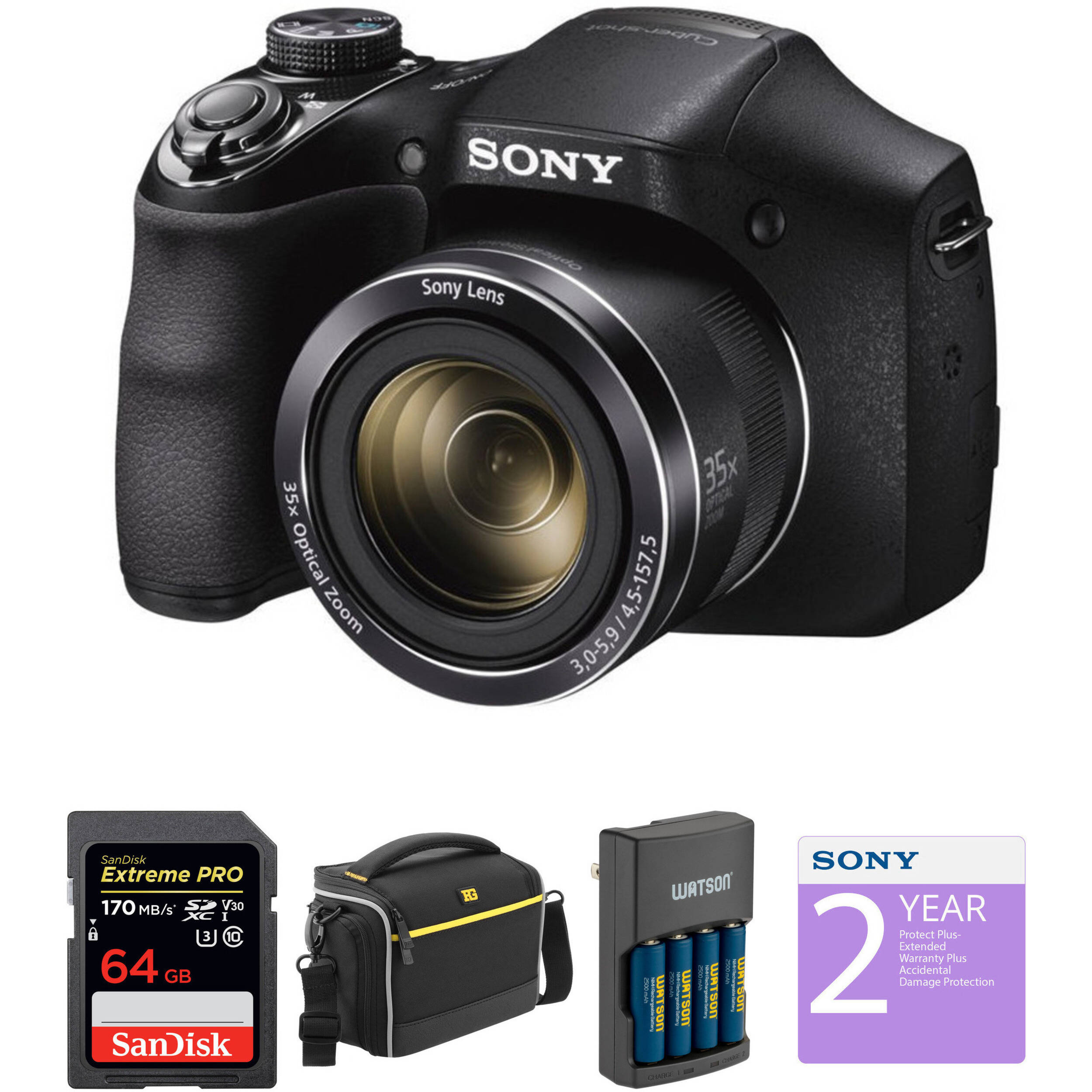 Sony Cyber-shot DSC-H300 Digital Camera (Black)