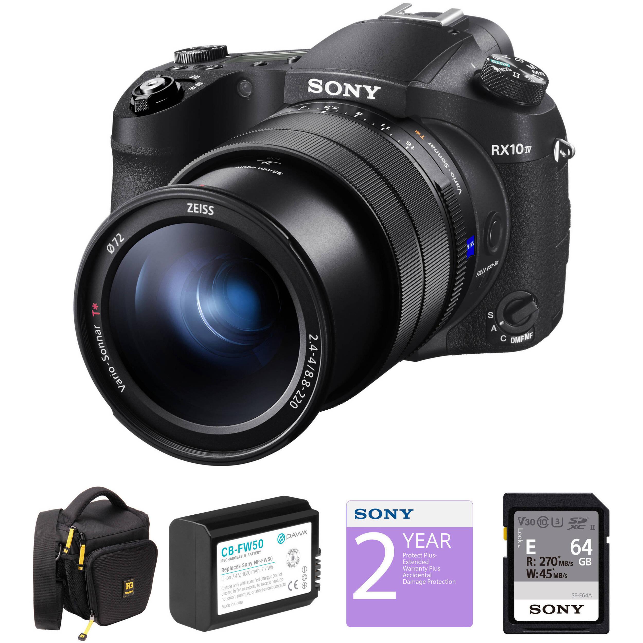sony rx10 iv. sony cyber-shot dsc-rx10 iv digital camera deluxe kit rx10 iv n