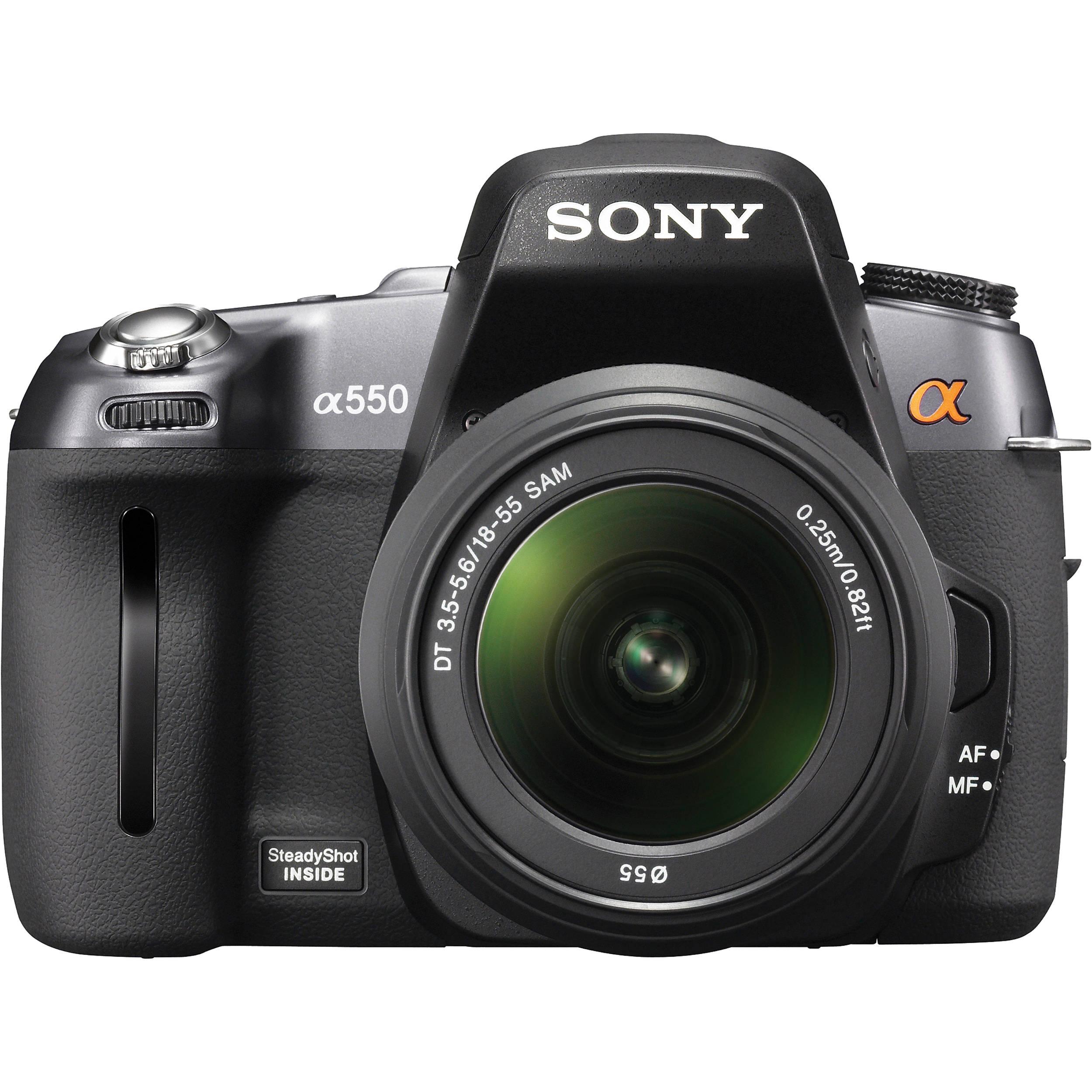 used sony dslr a550 14 2 mp digital slr camera dslra550l b h