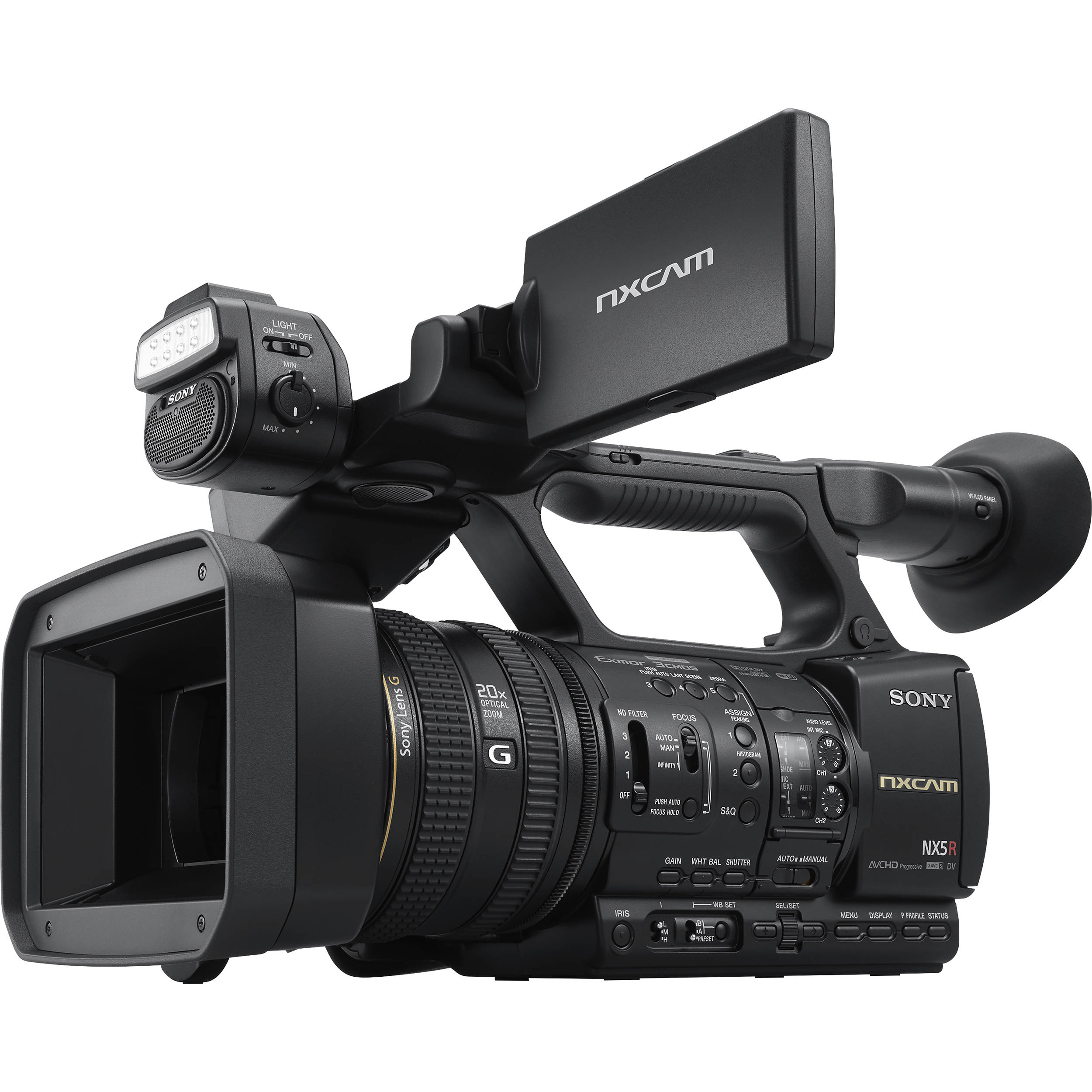 1252fd5e05d Sony HXR-NX5R NXCAM Professional Camcorder with Built-In LED Light
