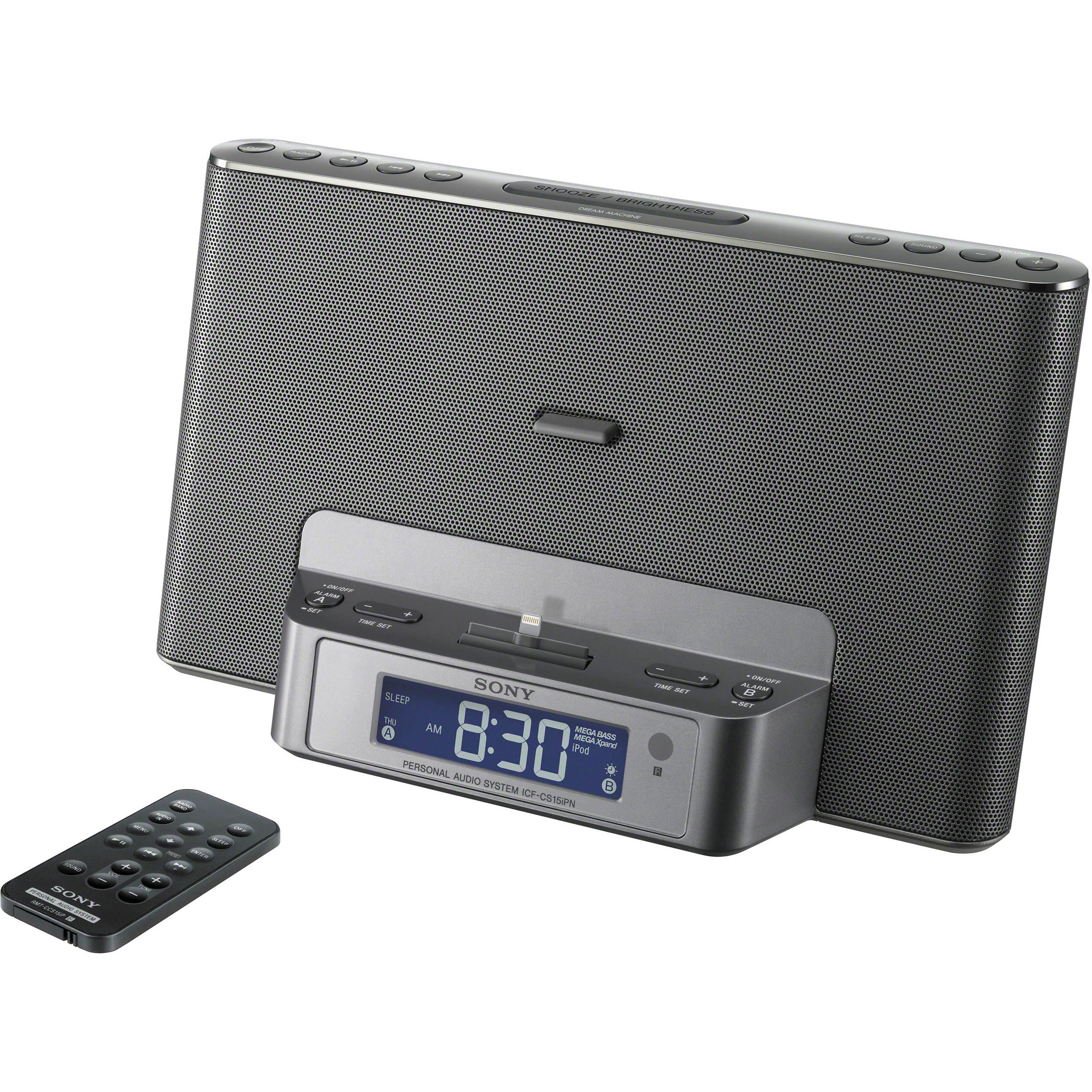 Sony ipod speaker dock clock radio
