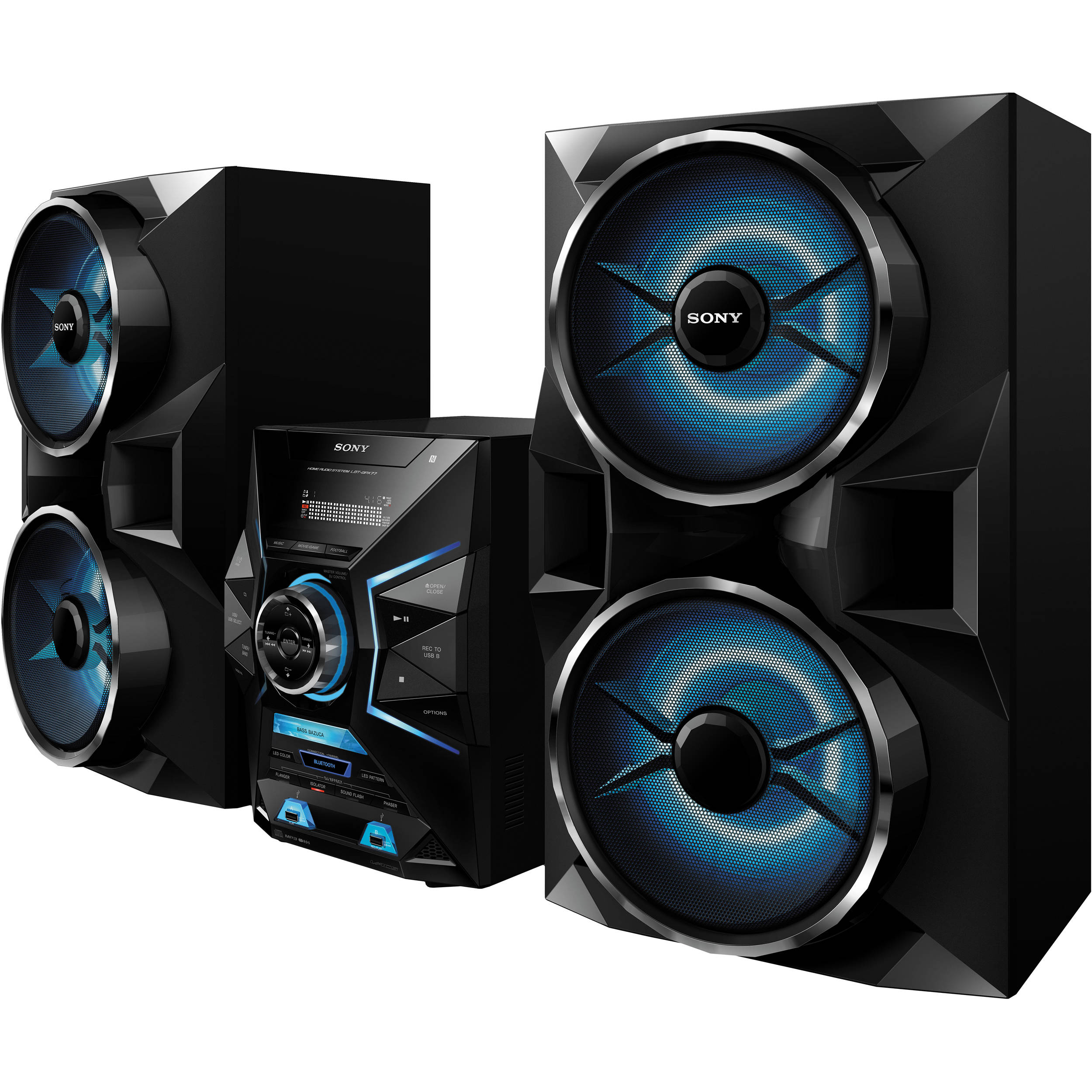 761dca1e10c Sony LBT-GPX77 1800W Bluetooth Mini System (Black) LBT-GPX77 B H