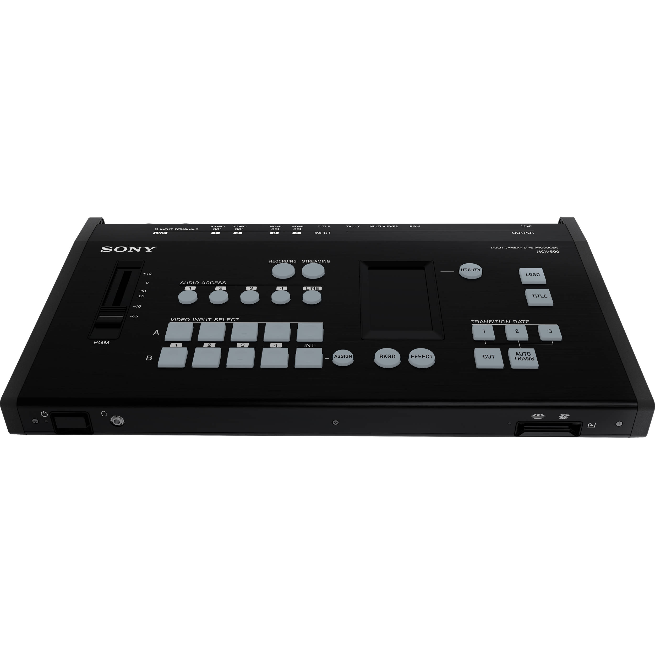 Sony Mcx 500 4 Input Global Production Bh Photo Video Addacircuitfuseadapteriphoneipodinstallmiatajpg Streaming Recording Switcher