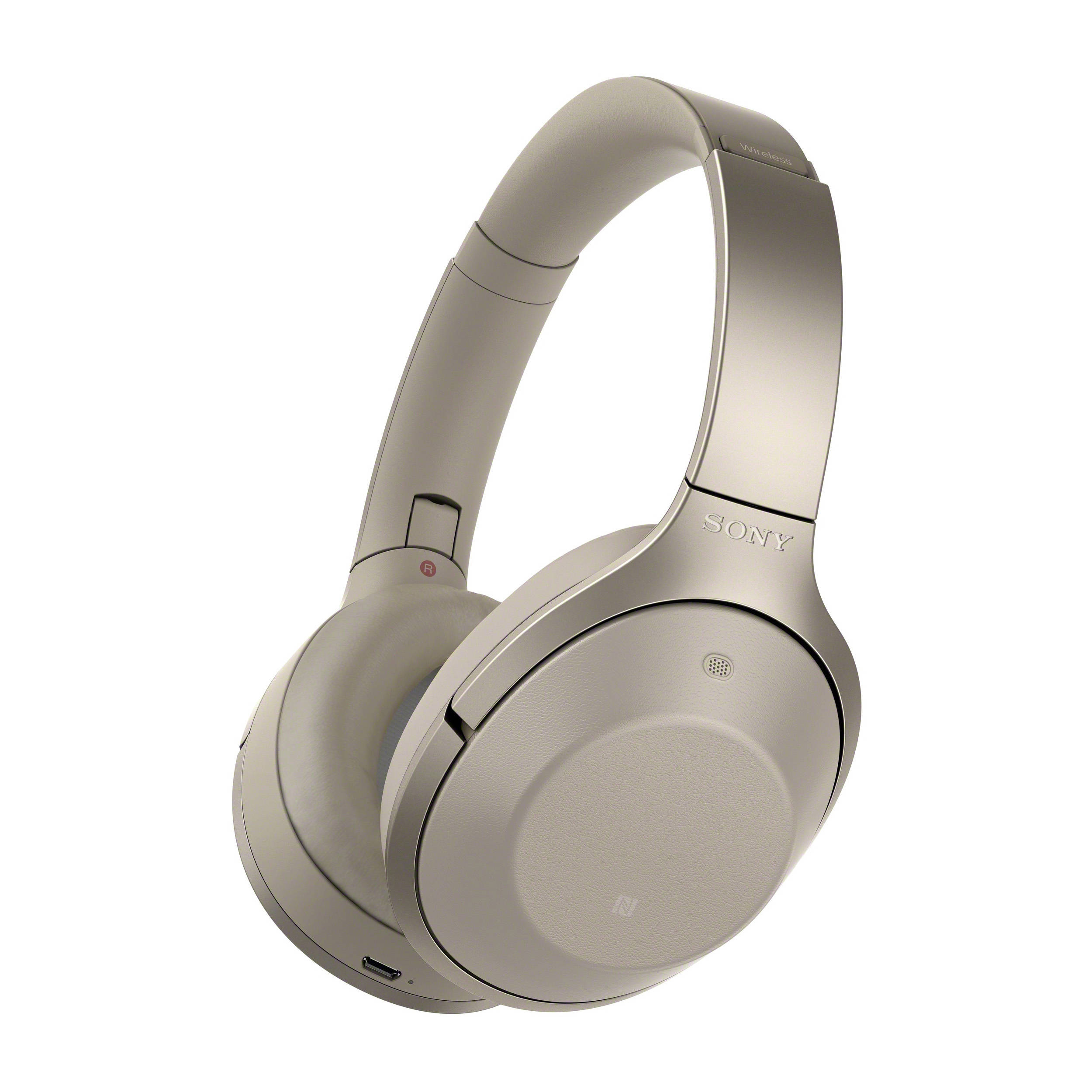 sony tv headphones. sony mdr-1000x wireless noise cancelling headphones (beige) tv