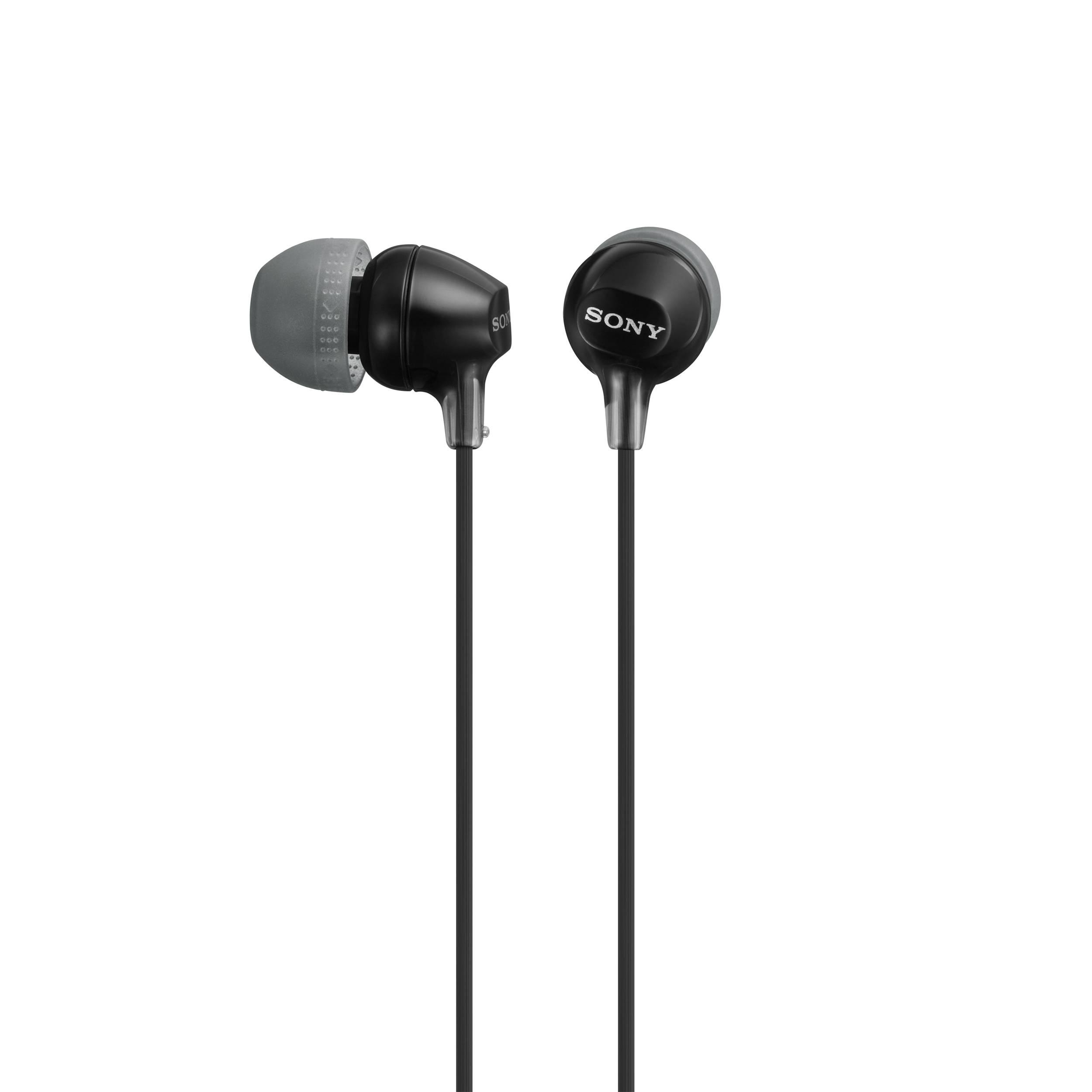sony mdr ex15lp in ear headphones black mdrex15lp b b h. Black Bedroom Furniture Sets. Home Design Ideas