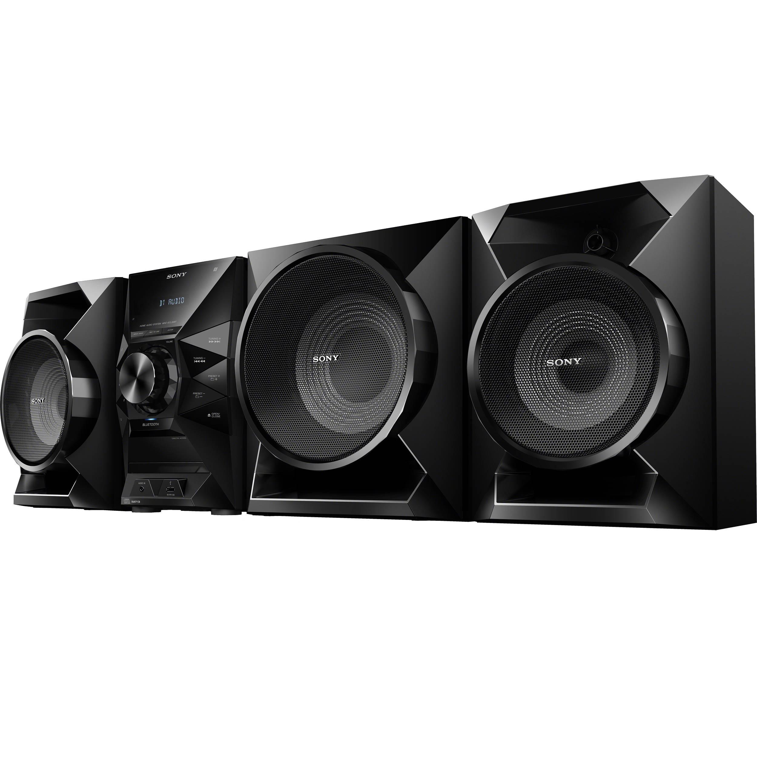 sony mhc ecl99bt hi fi shelf system mhc ecl99bt b h photo. Black Bedroom Furniture Sets. Home Design Ideas