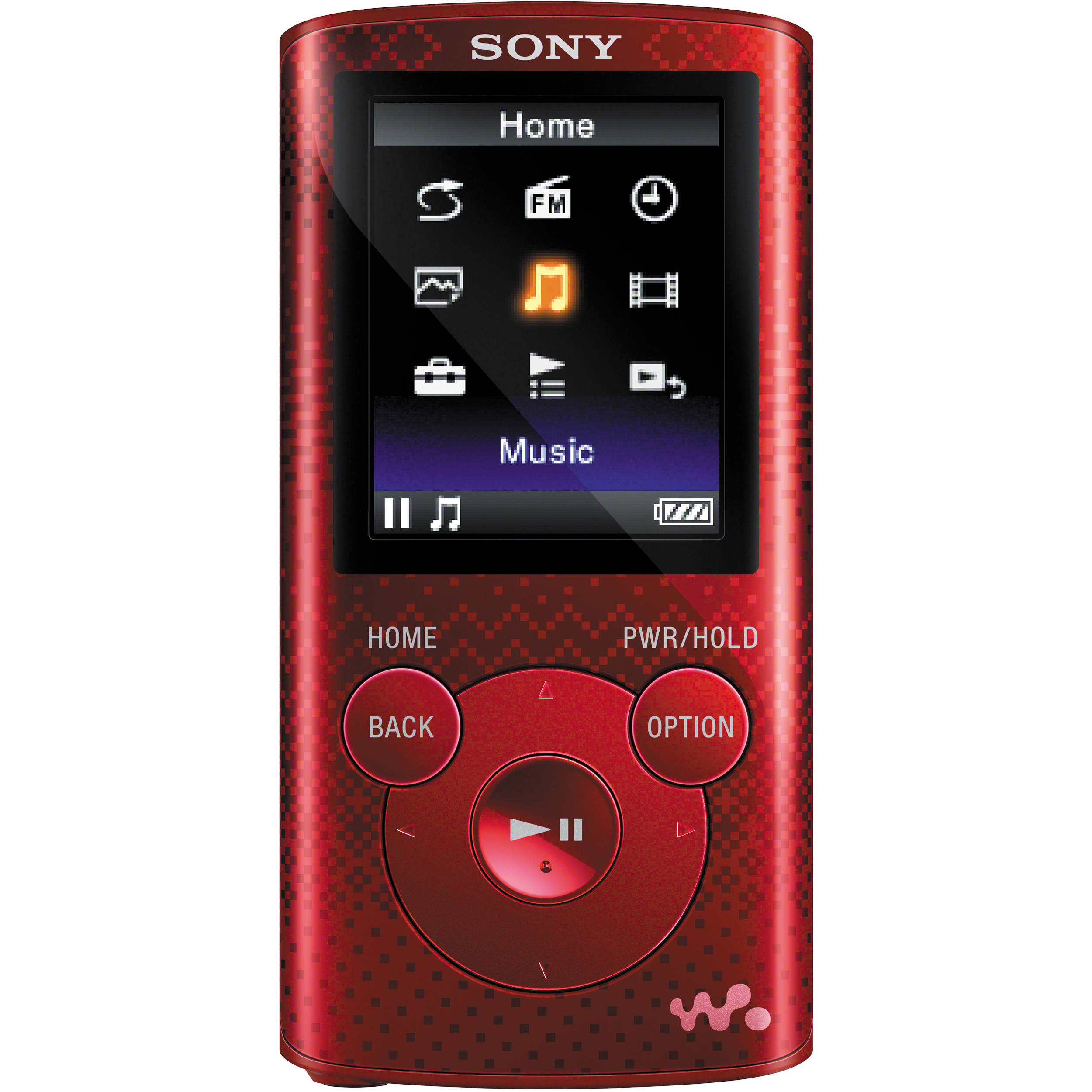 sony 8gb nwz e384 series walkman mp3 player red nwze384red b h. Black Bedroom Furniture Sets. Home Design Ideas