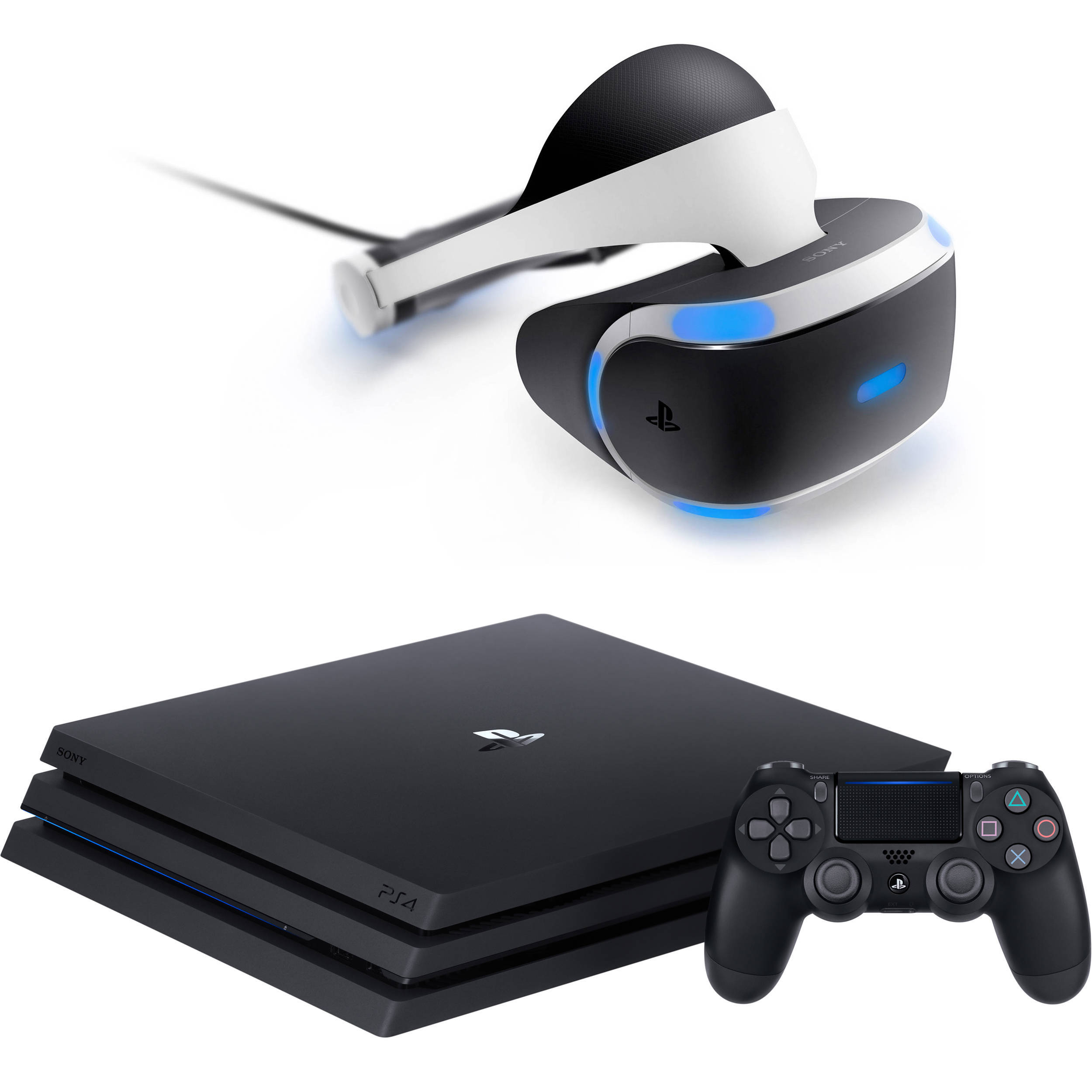 sony playstation 4. sony playstation 4 pro gaming console \u0026 vr headset kit playstation