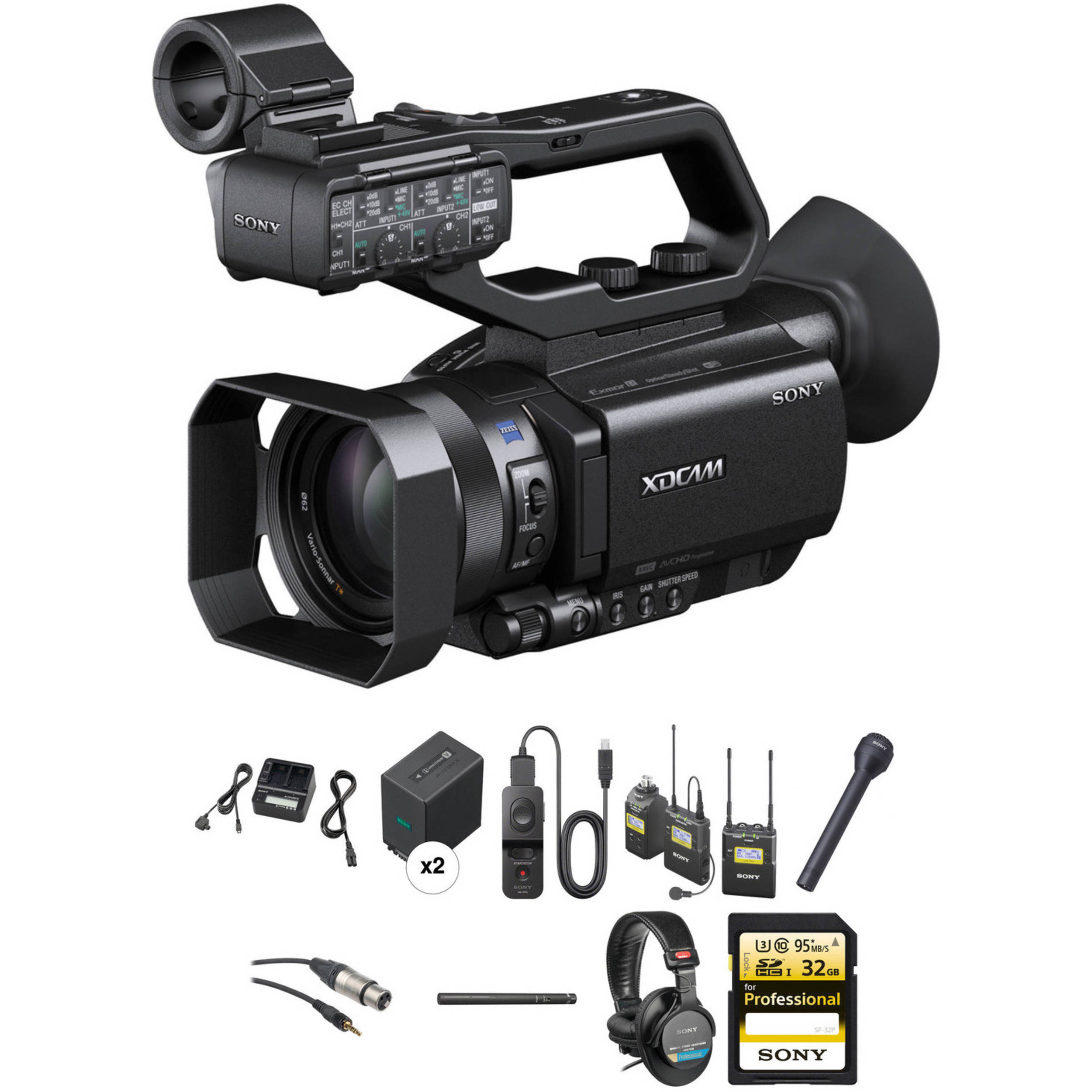 Sony PXW-X70 Advanced Video Journalist Kit with Backpack, Trolley, Rain Slicker,