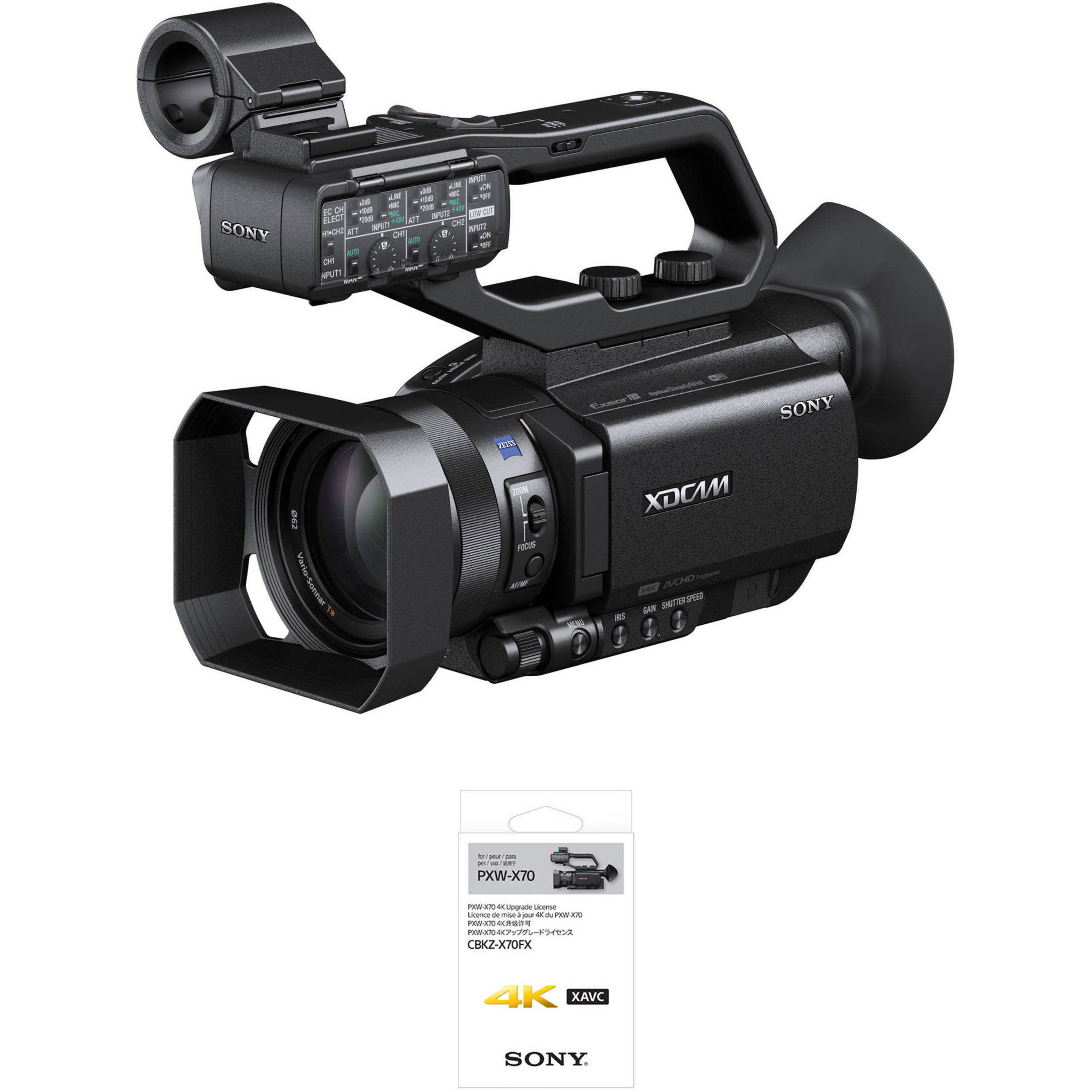 sony video camera 4k. sony pxw-x70 professional xdcam compact camcorder with 4k upgrade license video camera 4k m