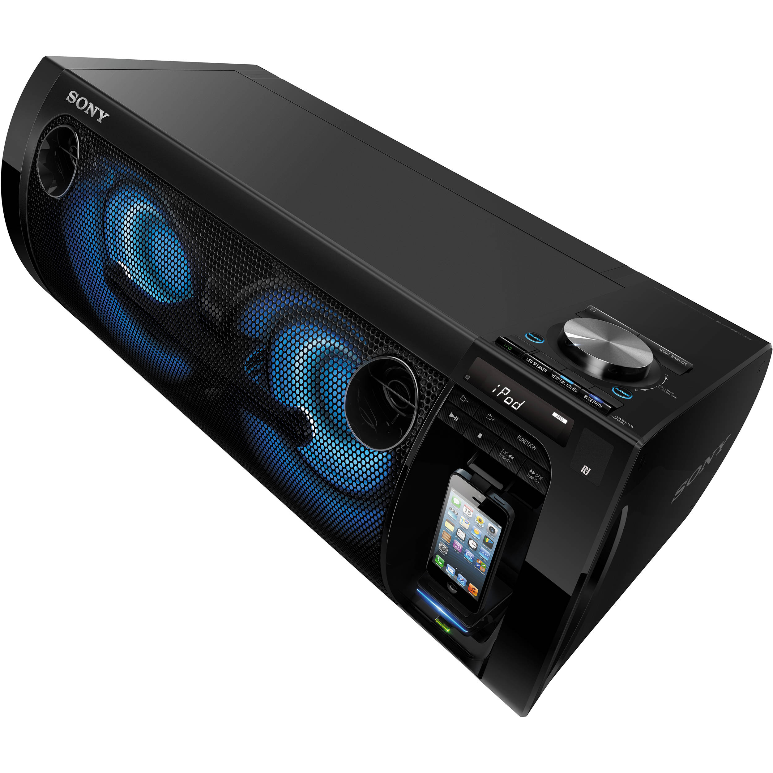 sony portable party system black rdh gtk37ip b h photo video. Black Bedroom Furniture Sets. Home Design Ideas
