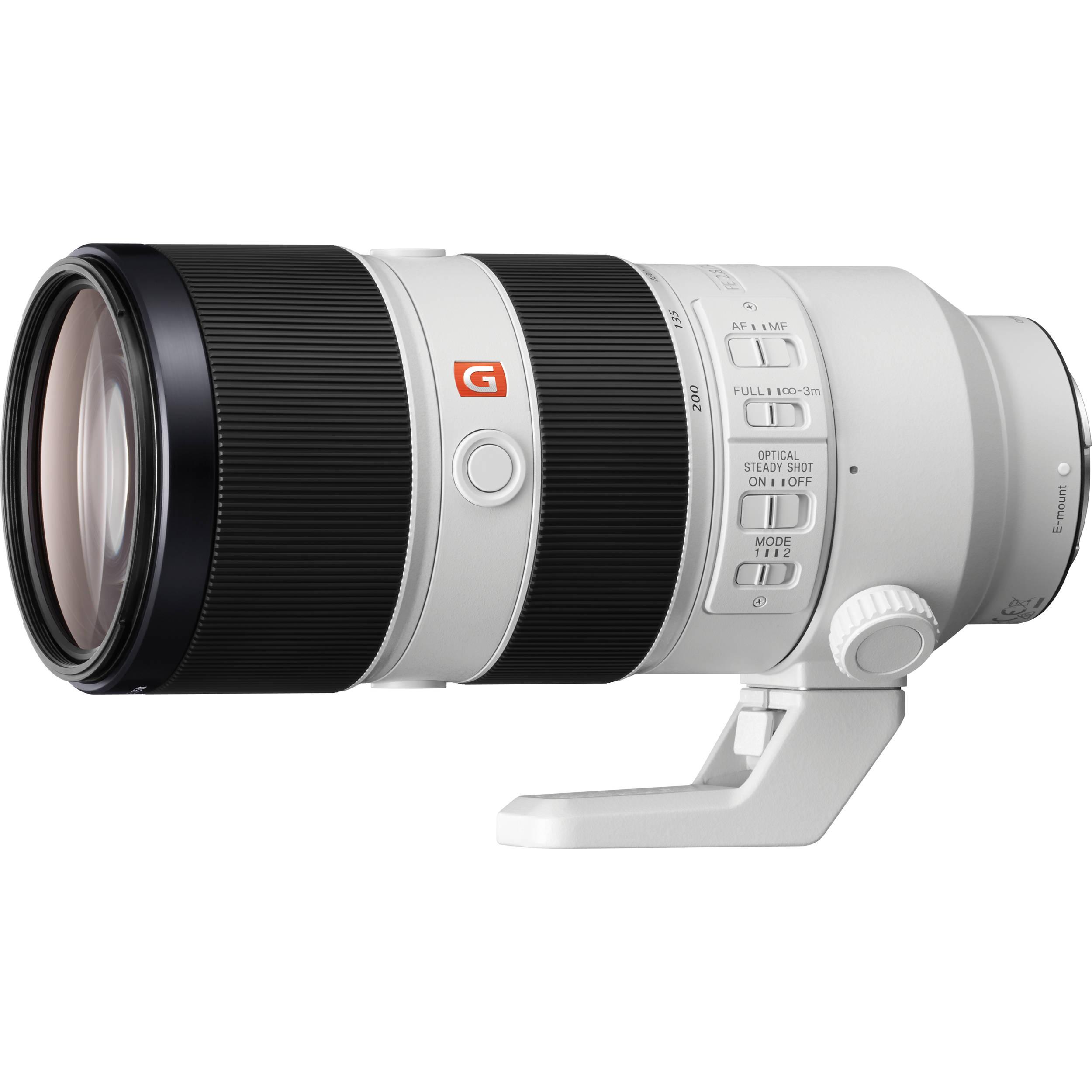Sony Fe 70 200mm F 2 8 Gm Oss Lens Sel70200gm B Amp H Photo Video