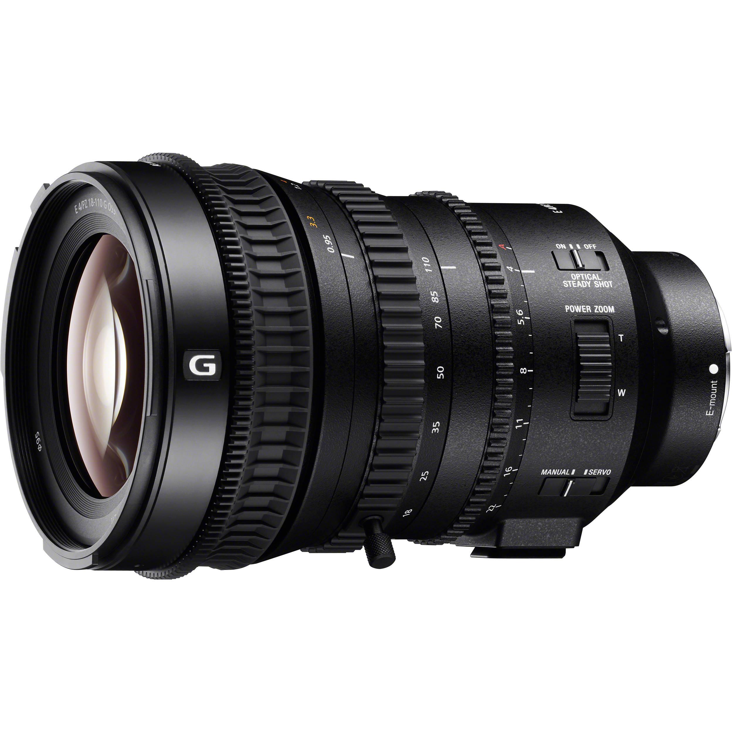 Sony E PZ 18 110mm f 4 G OSS Lens