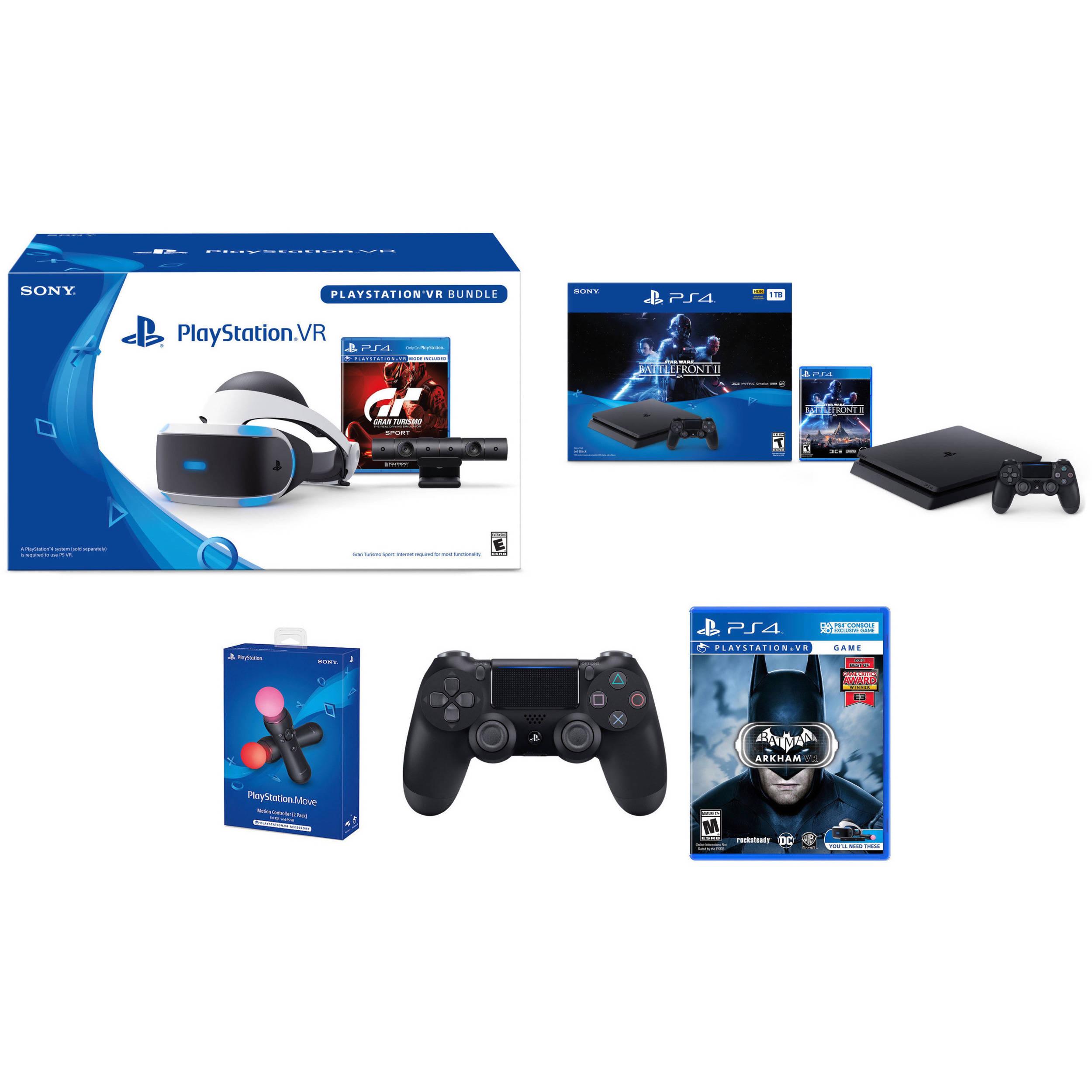 4acf73f50 Sony Star Wars Battlefront II PlayStation 4 Bundle Kit with PlayStation VR  Gran Turismo Sport Bundle