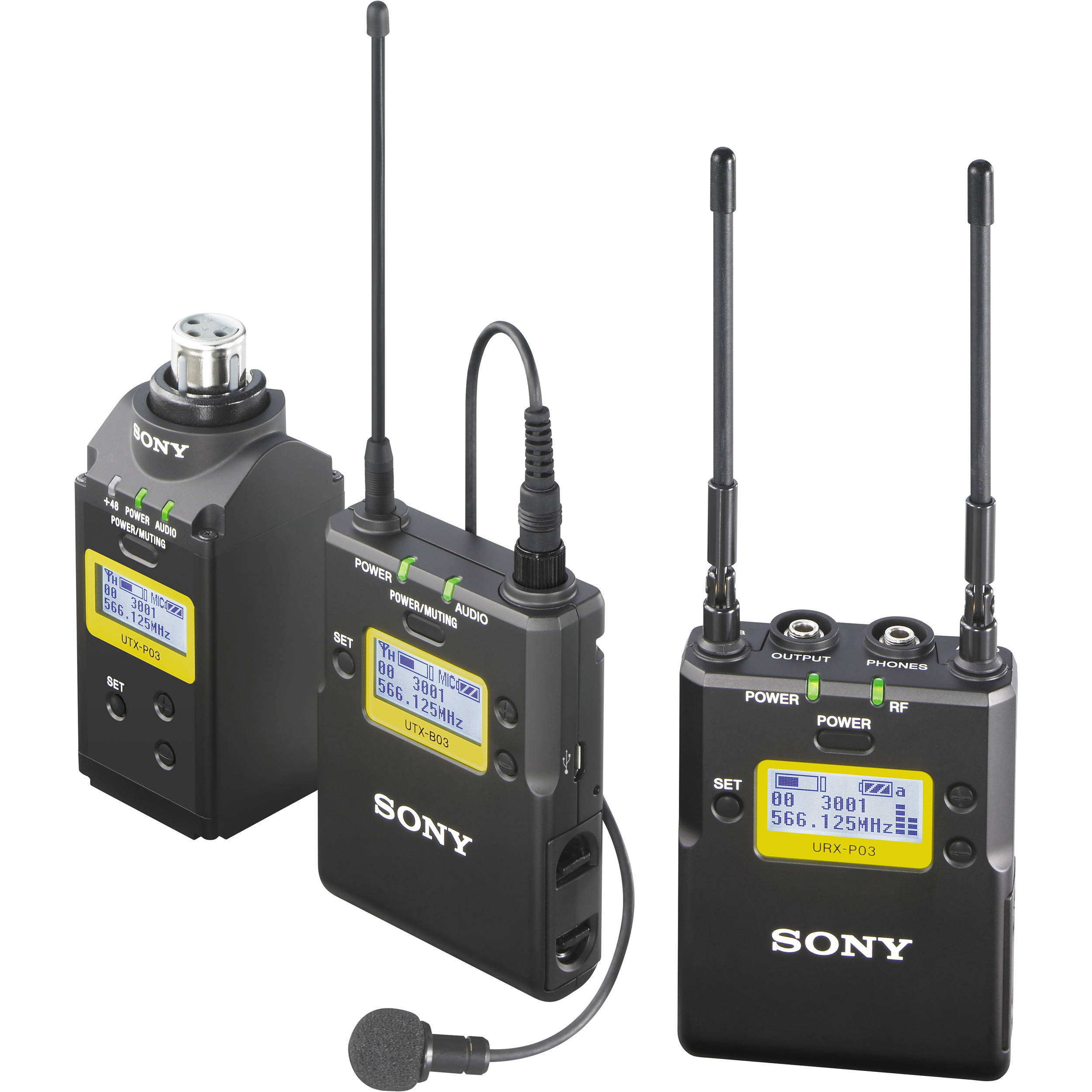 Sony UWP-D16 Integrated Digital Plug-On & Lavalier Combo Wireless  Microphone System (