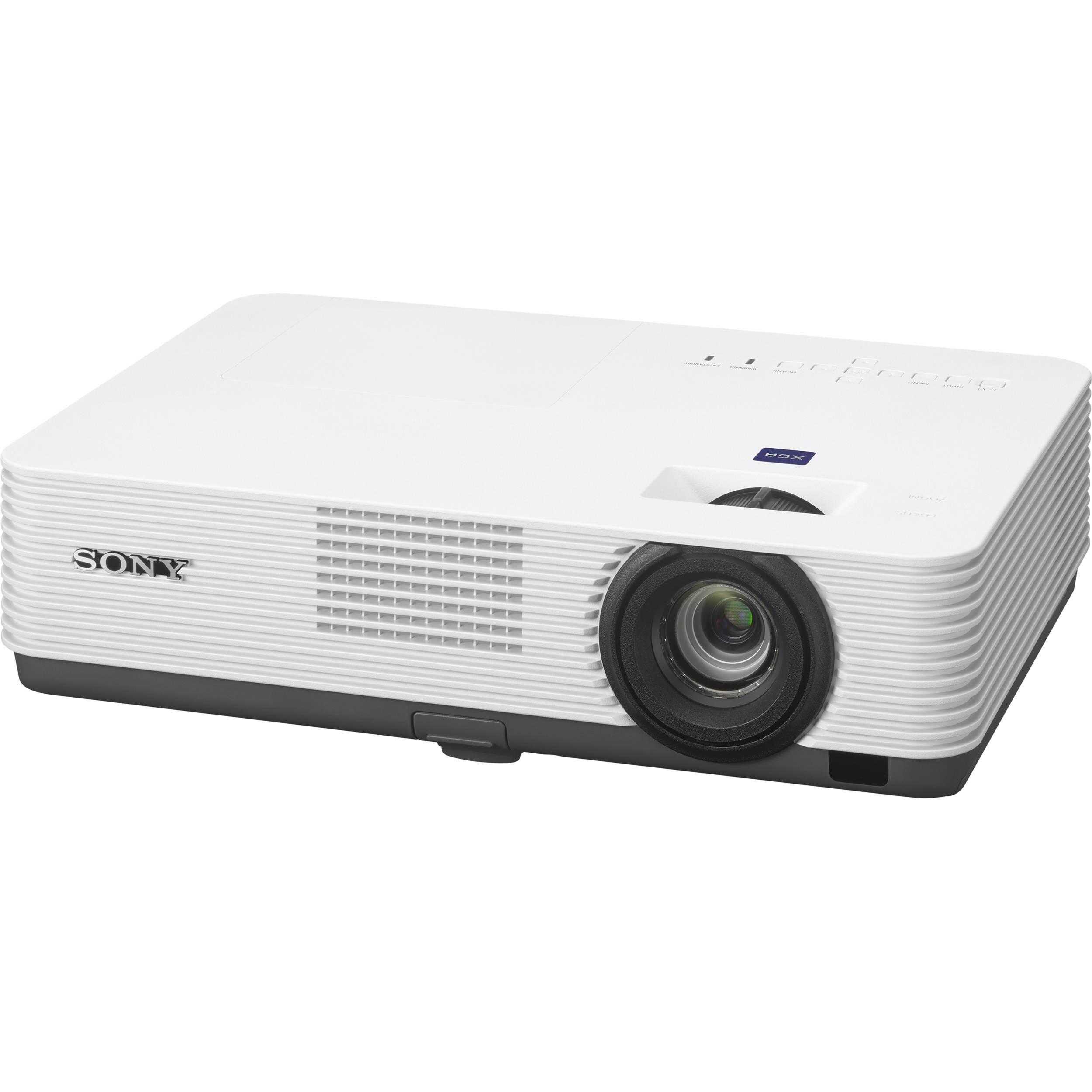 Sony 2800 Lumens Xga Desktop Projector White Vpl Dx221 B Amp H
