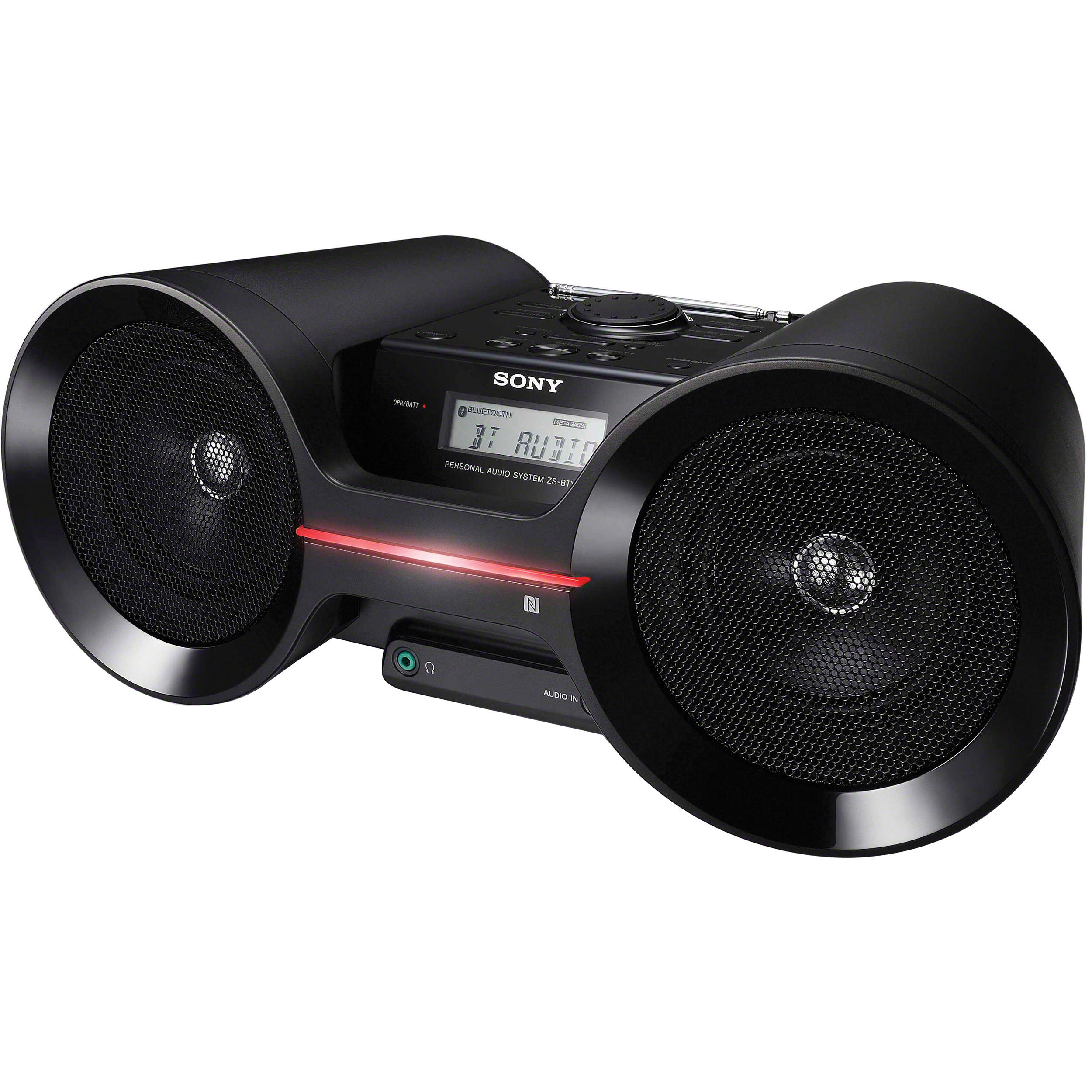 sony bluetooth wireless boombox zsbty50 b h photo video. Black Bedroom Furniture Sets. Home Design Ideas
