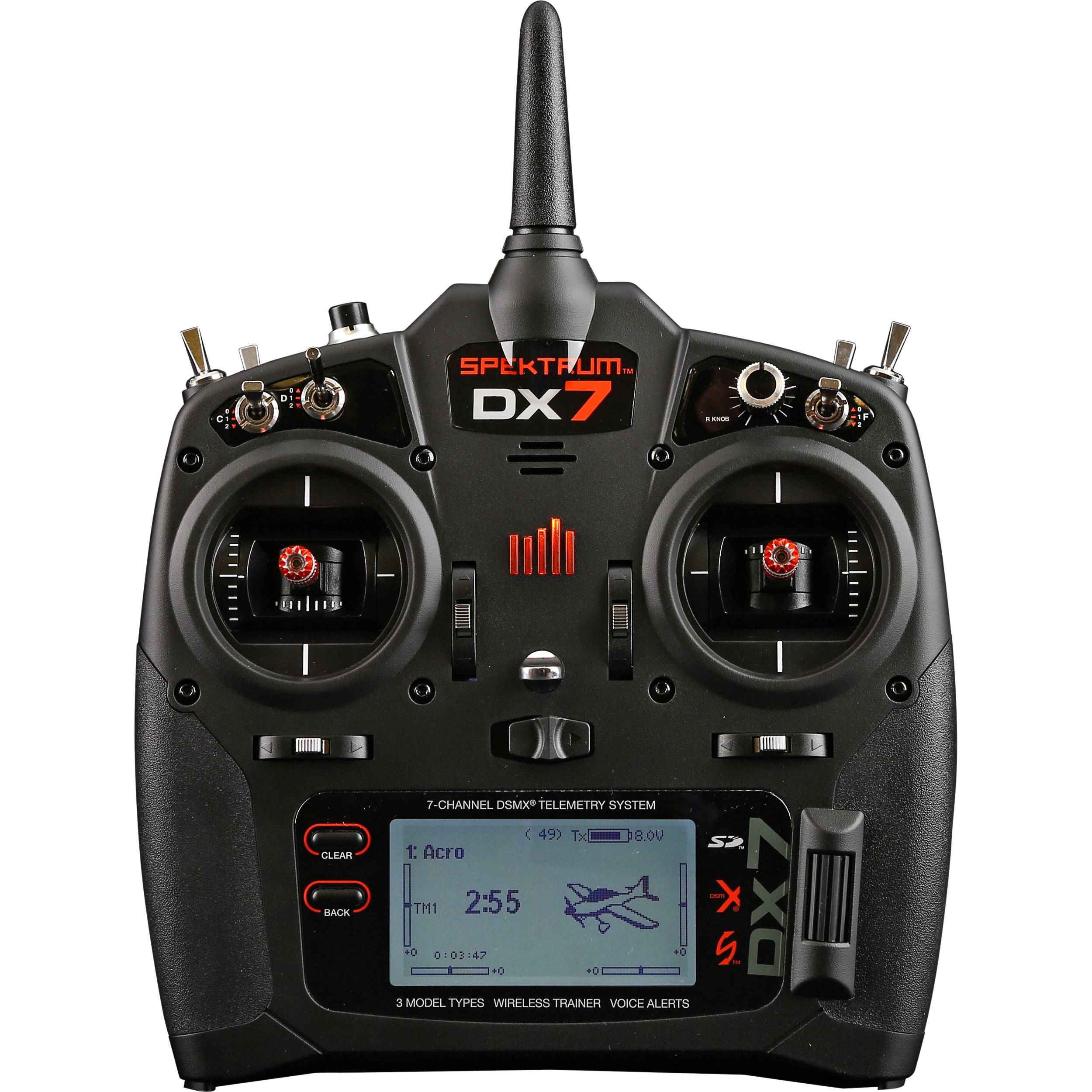 Spektrum Dx7 7 Channel Dsmx Transmitter For Rc Aircraft