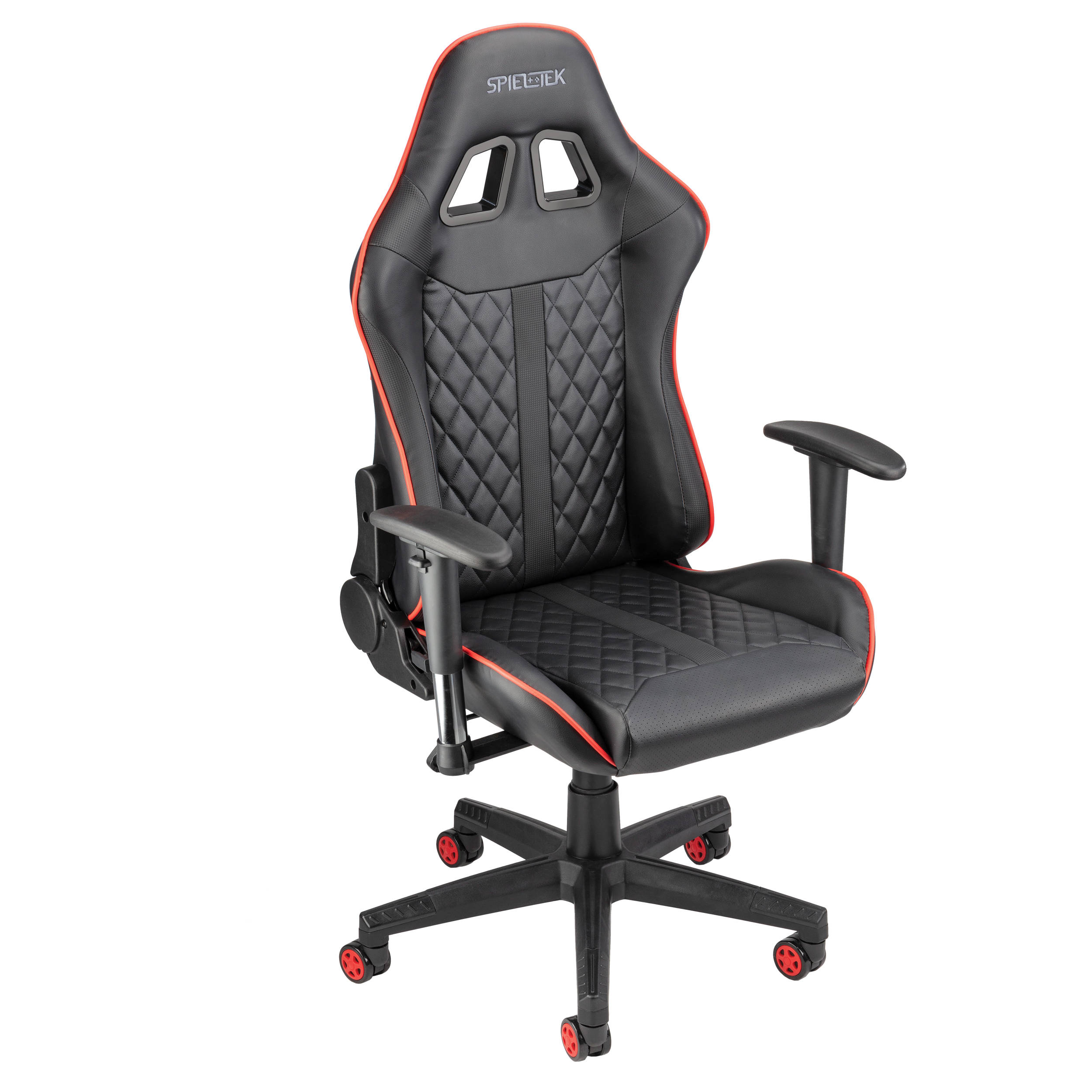 Spieltek 100 Series Gaming Chair Black Red Gc 100l Br