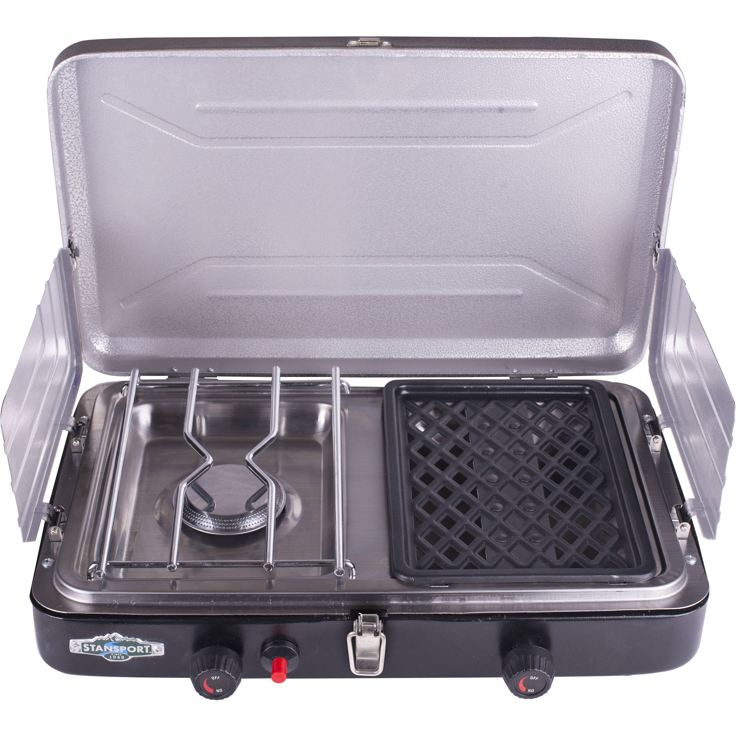 Stansport Propane Stove Amp Grill Combo With Piezo 206 100 B Amp H