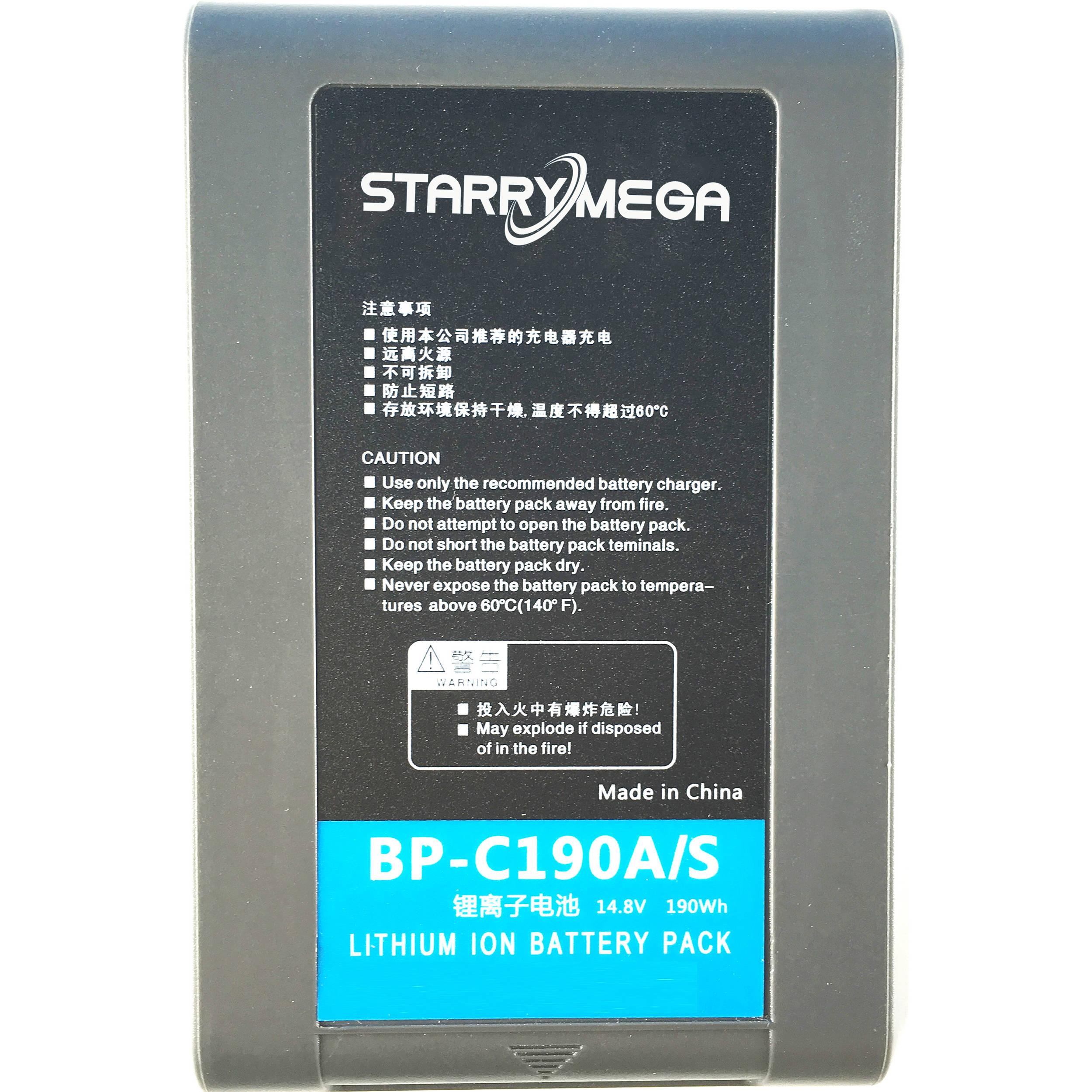 starrymega st c190a li ion battery pack v lock