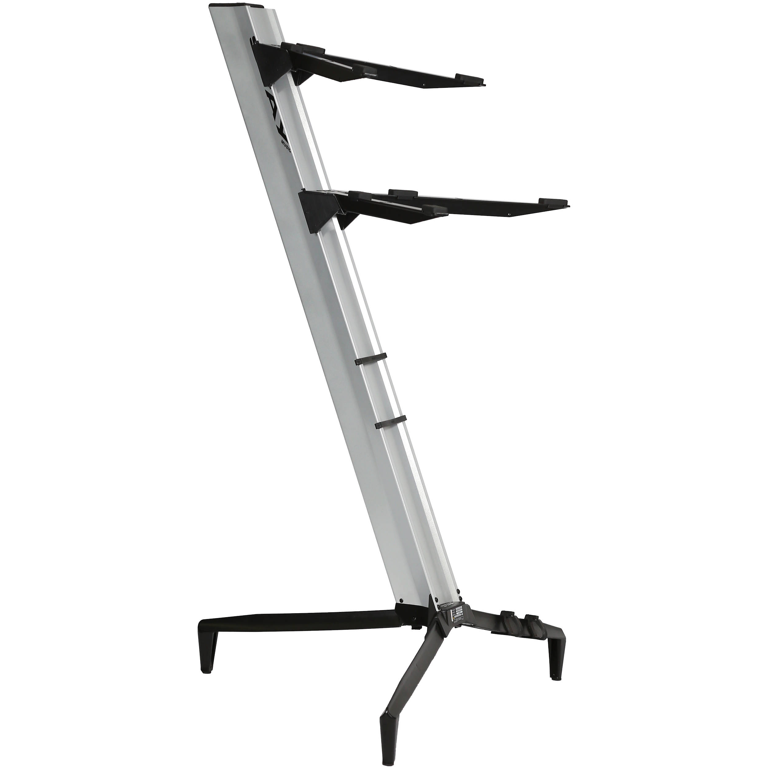 stay tower series 46 double tier keyboard stand silver stay41. Black Bedroom Furniture Sets. Home Design Ideas