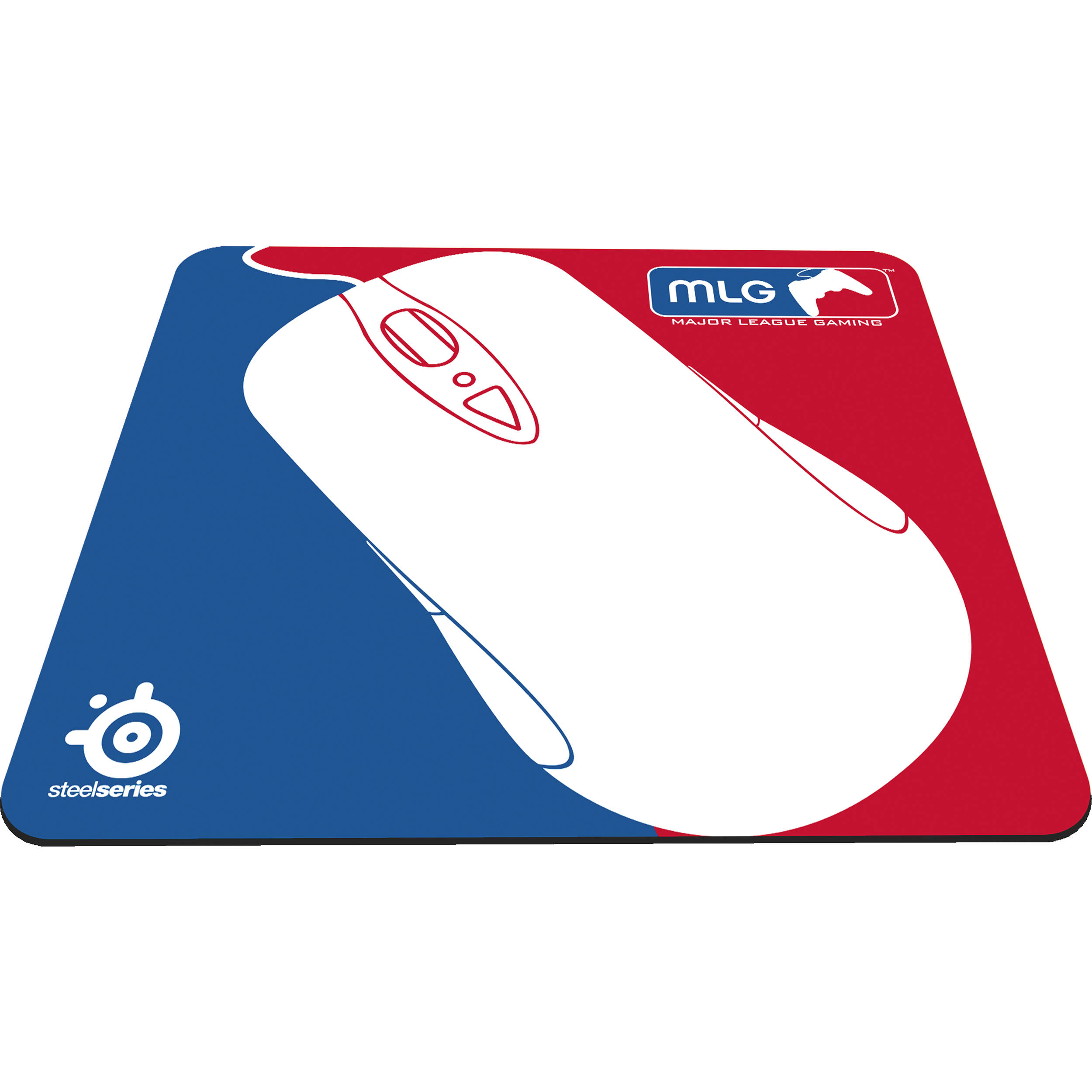 steelseries qck major league gaming mouse pad red blue 63323