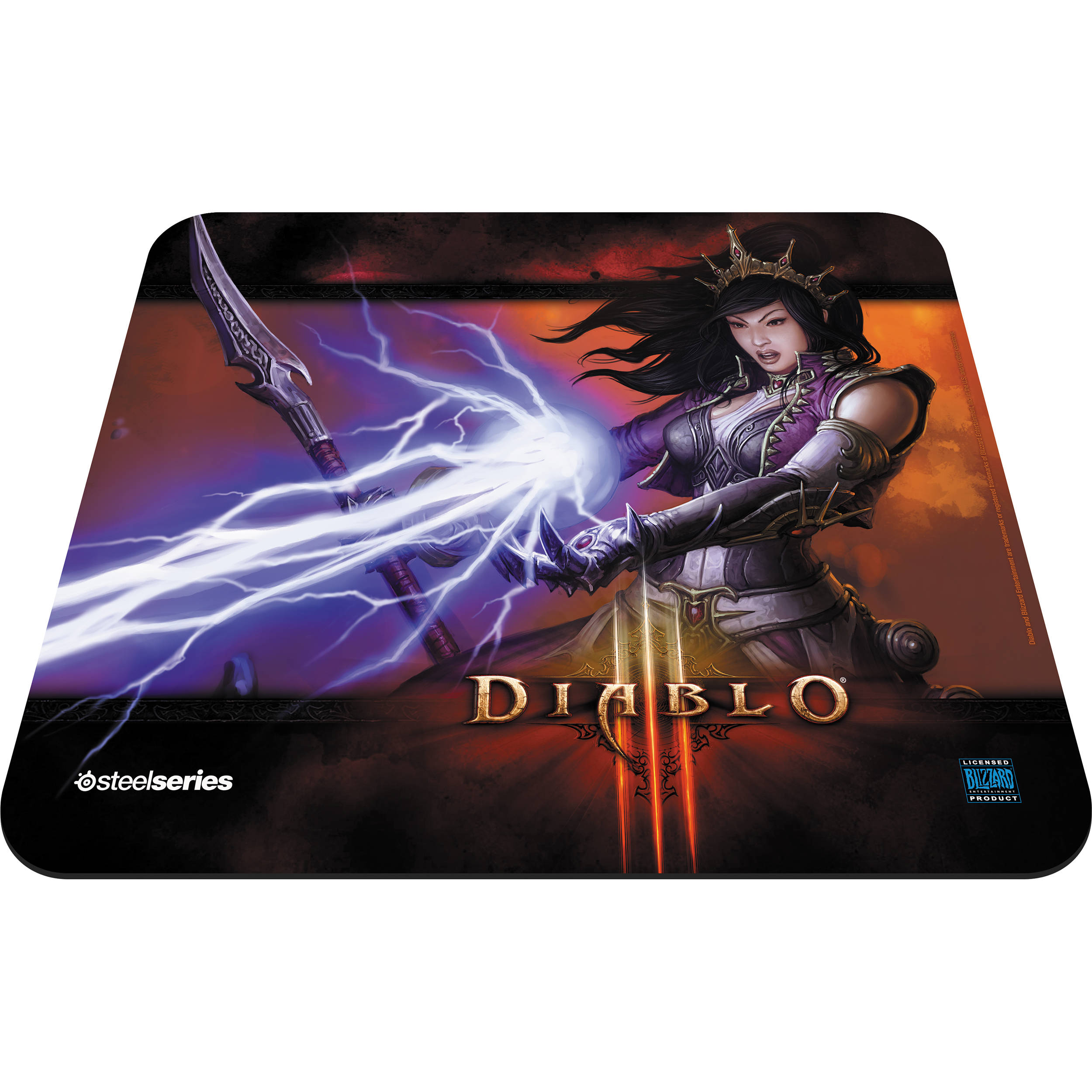 Steelseries Qck Diablo Iii Gaming Mouse Pad 67236 Bh Photo Mousepad Black Wizard Edition