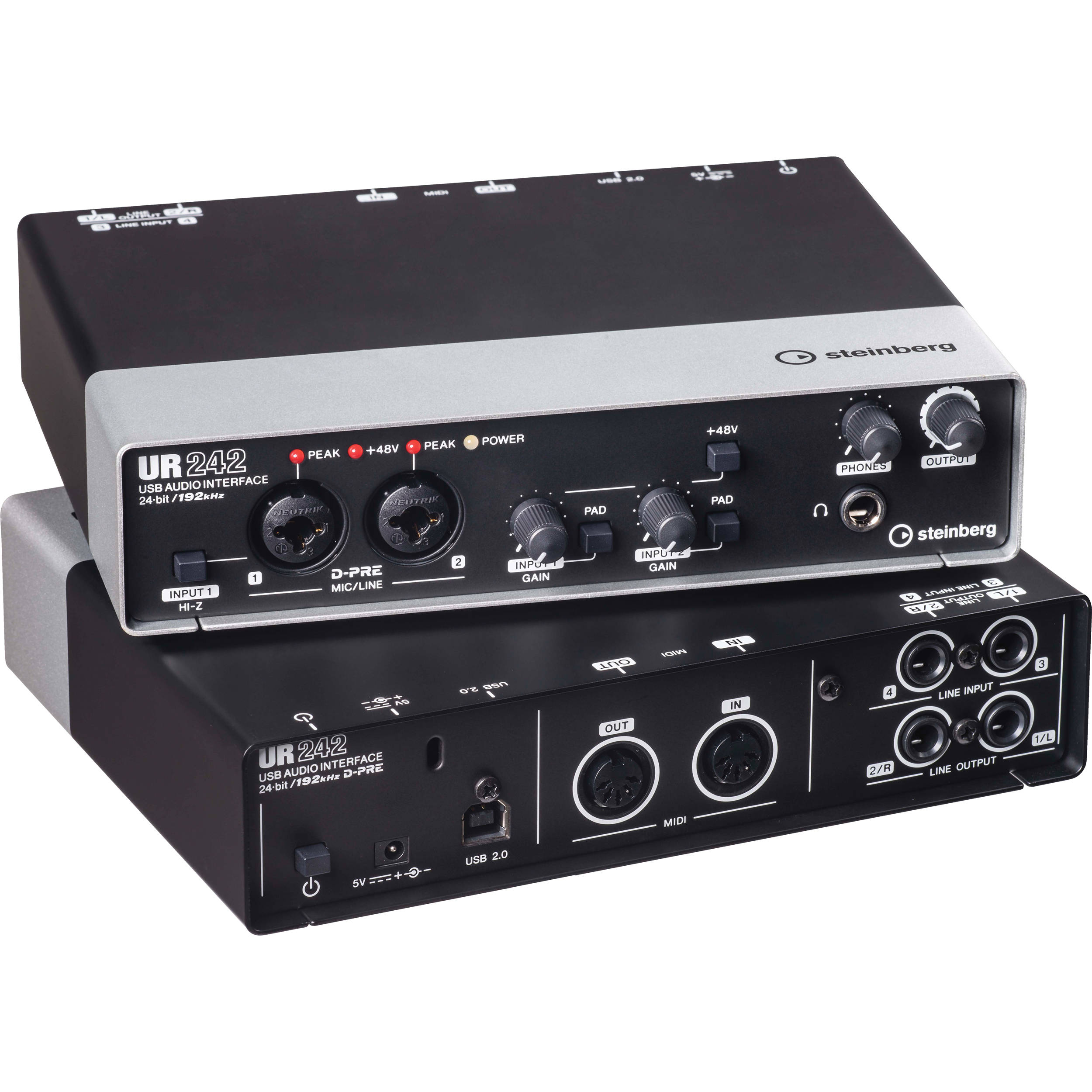 steinberg ur242 usb 2 0 audio interface with dual ur242 b h. Black Bedroom Furniture Sets. Home Design Ideas