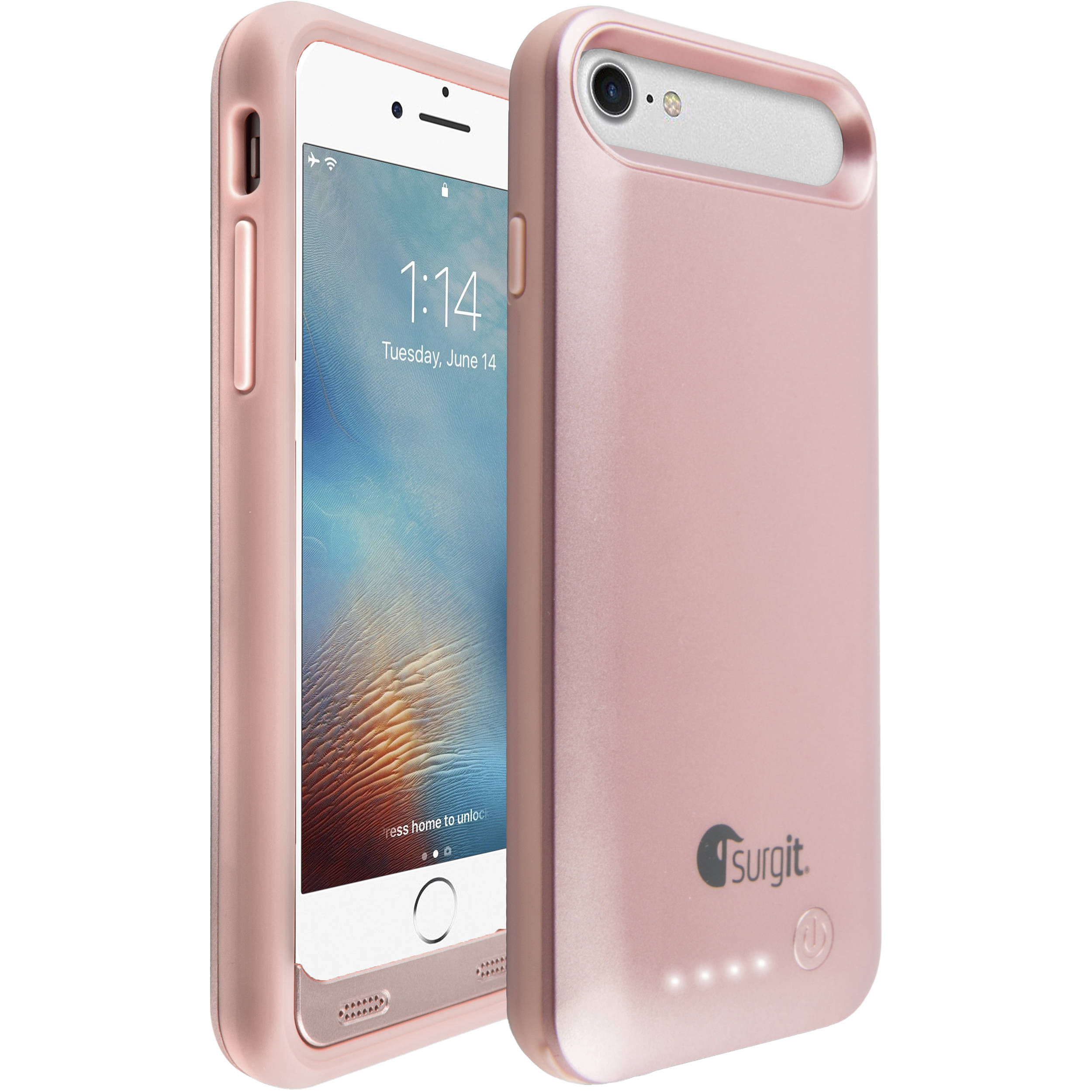 surgit battery case for iphone 7 plus 8 plus smapc ip7p r b h