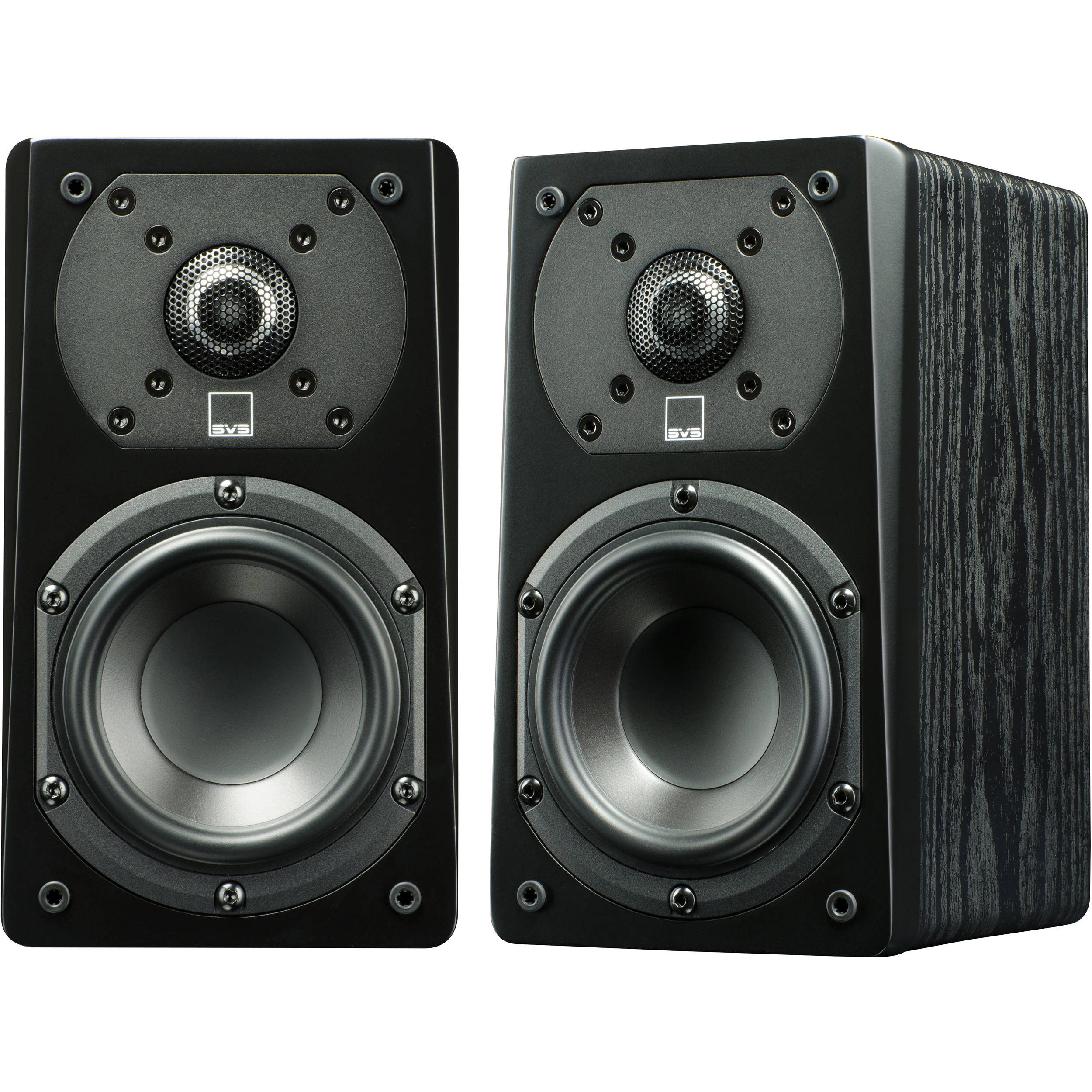 SVS Prime Satellite 2 Way Bookshelf Speakers Premium Black Ash Pair