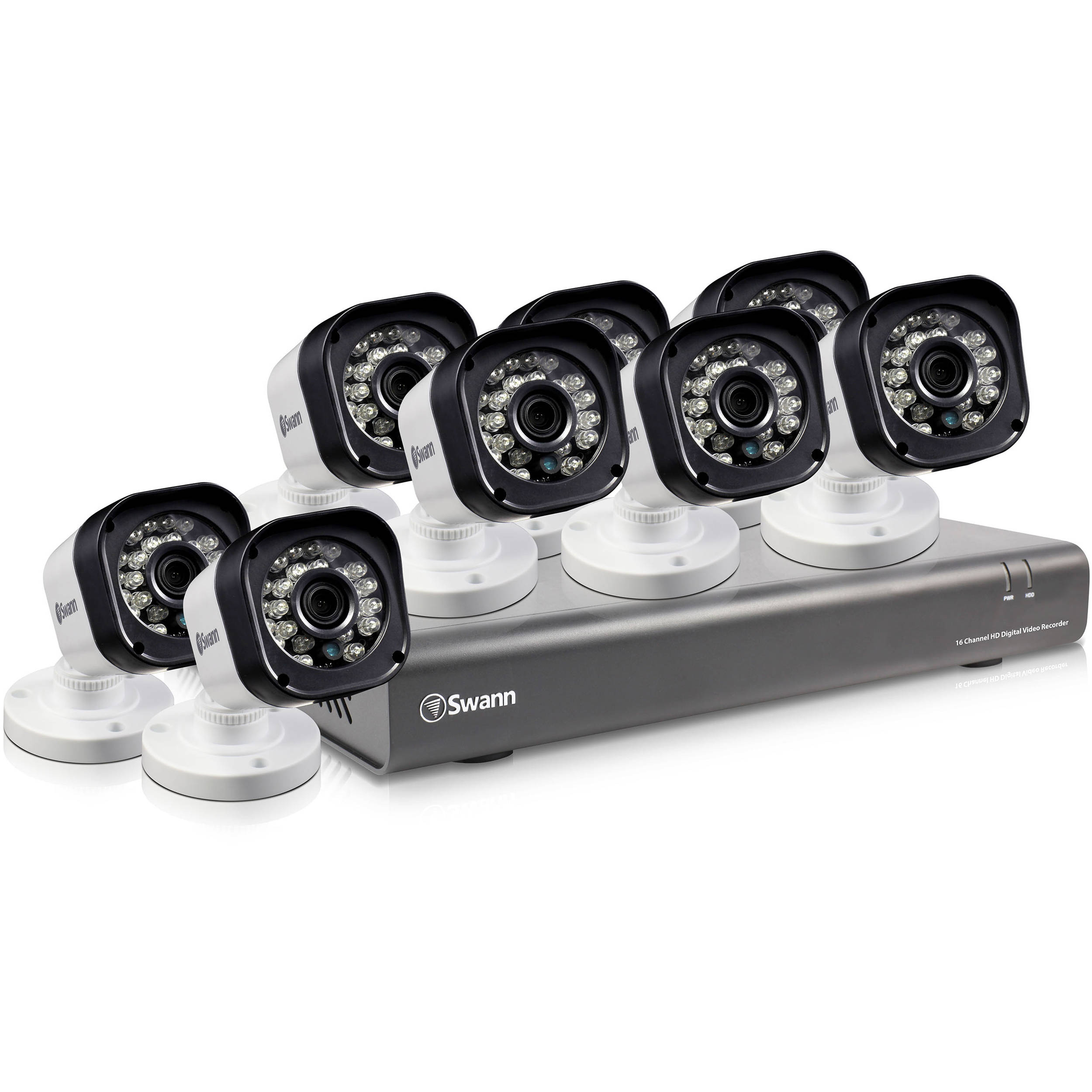 Swann 16 Channel 720p Dvr With 500gb Hdd And 8 Swdvk 167208 Us