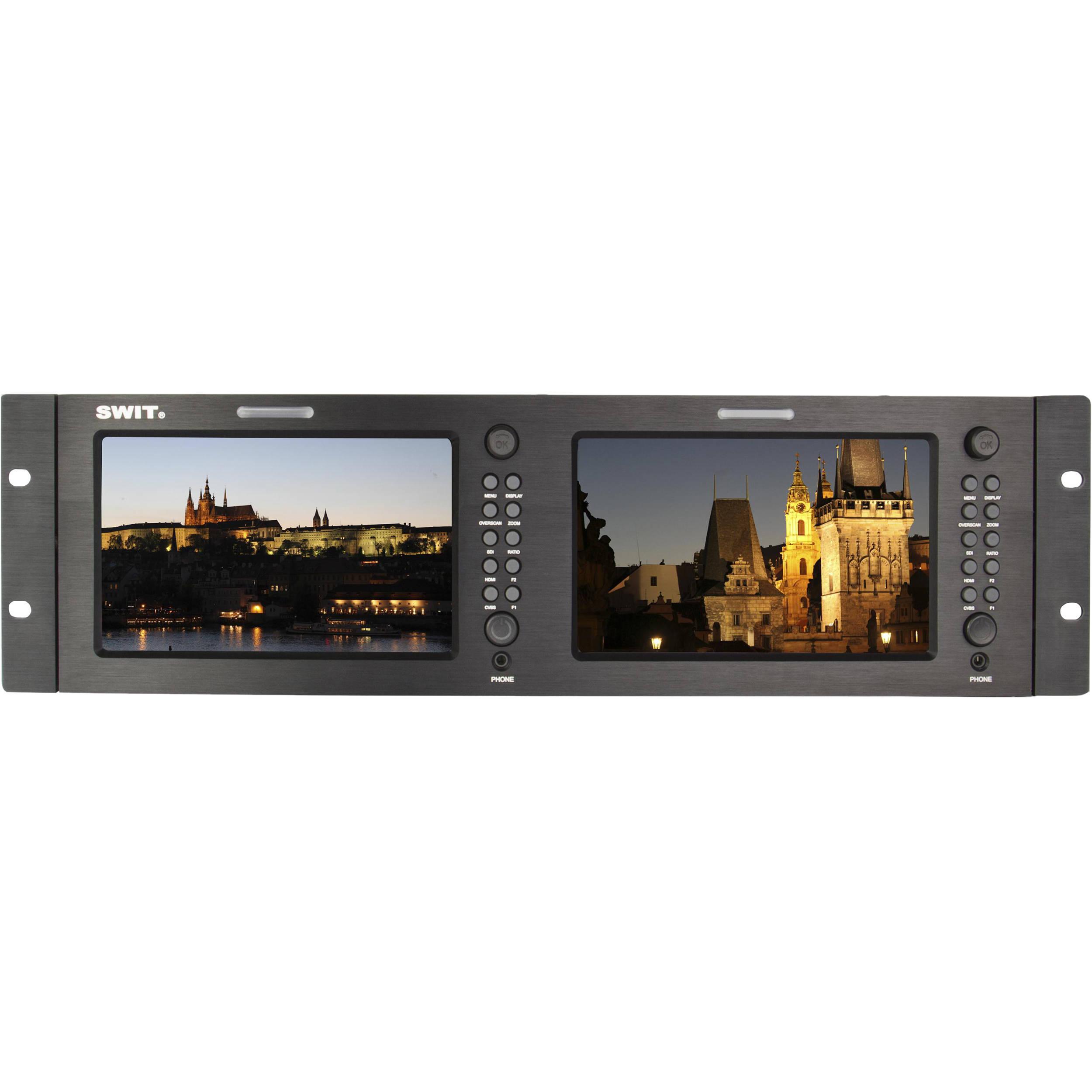 "SWIT M-1071H Dual 7"" 3GSDI and HDMI LCD Monitor (3 ..."