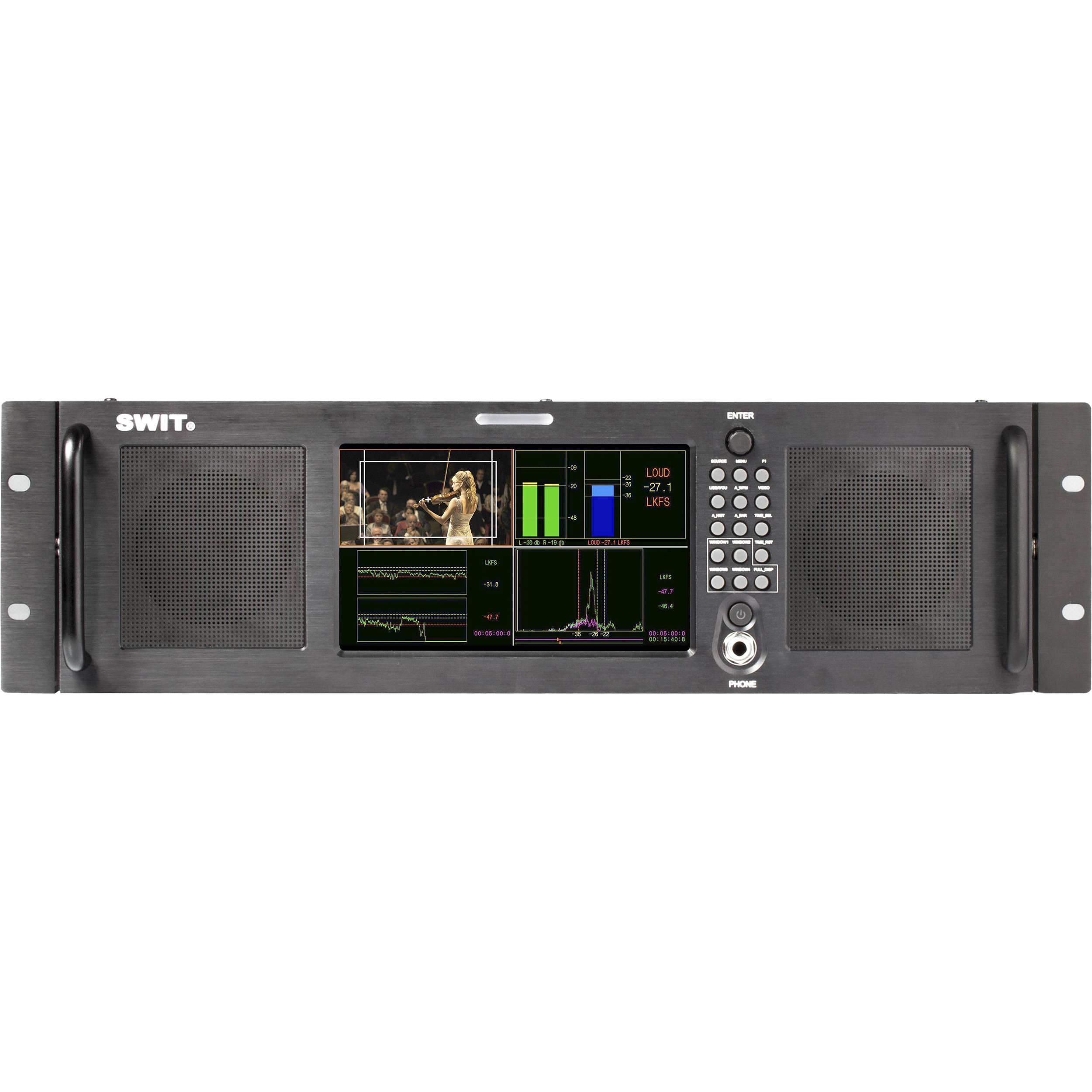 """SWIT M-1072A 7"""" HD-SDI/HDMI Audio Loudness LCD Monitor ("""