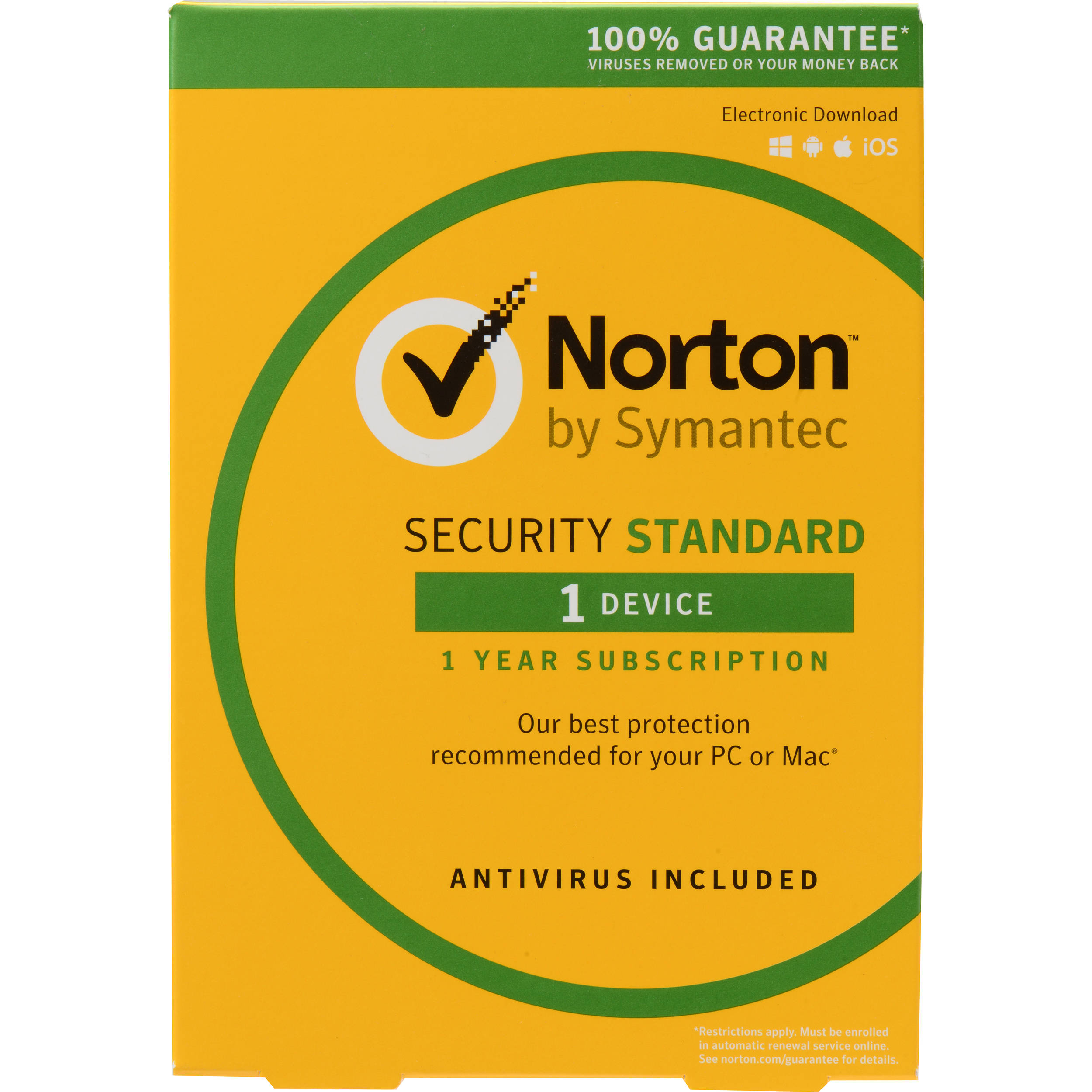 symantec norton security standard 21353868 b h photo video. Black Bedroom Furniture Sets. Home Design Ideas