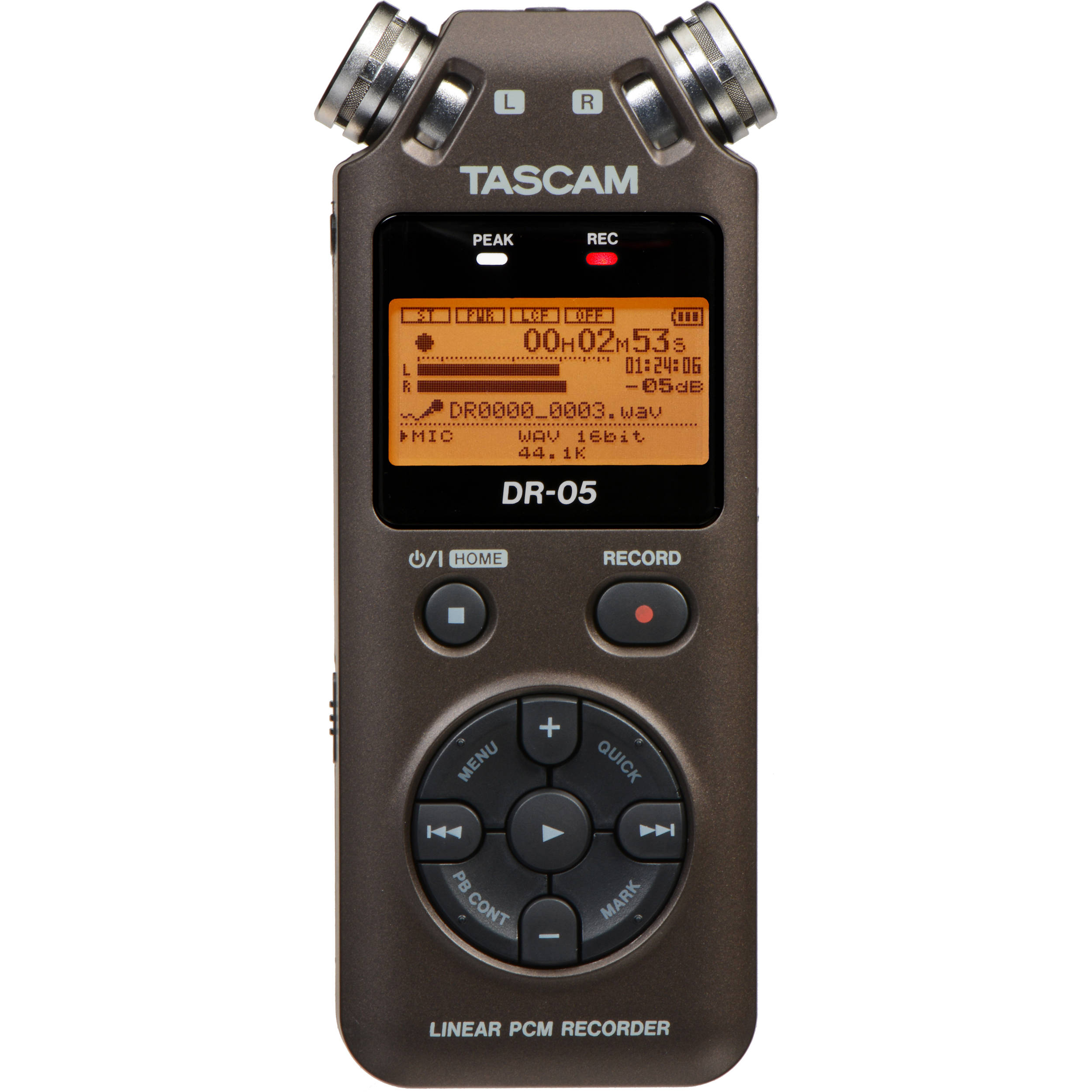tascam dr 05 portable handheld digital audio recorder dr 05br. Black Bedroom Furniture Sets. Home Design Ideas