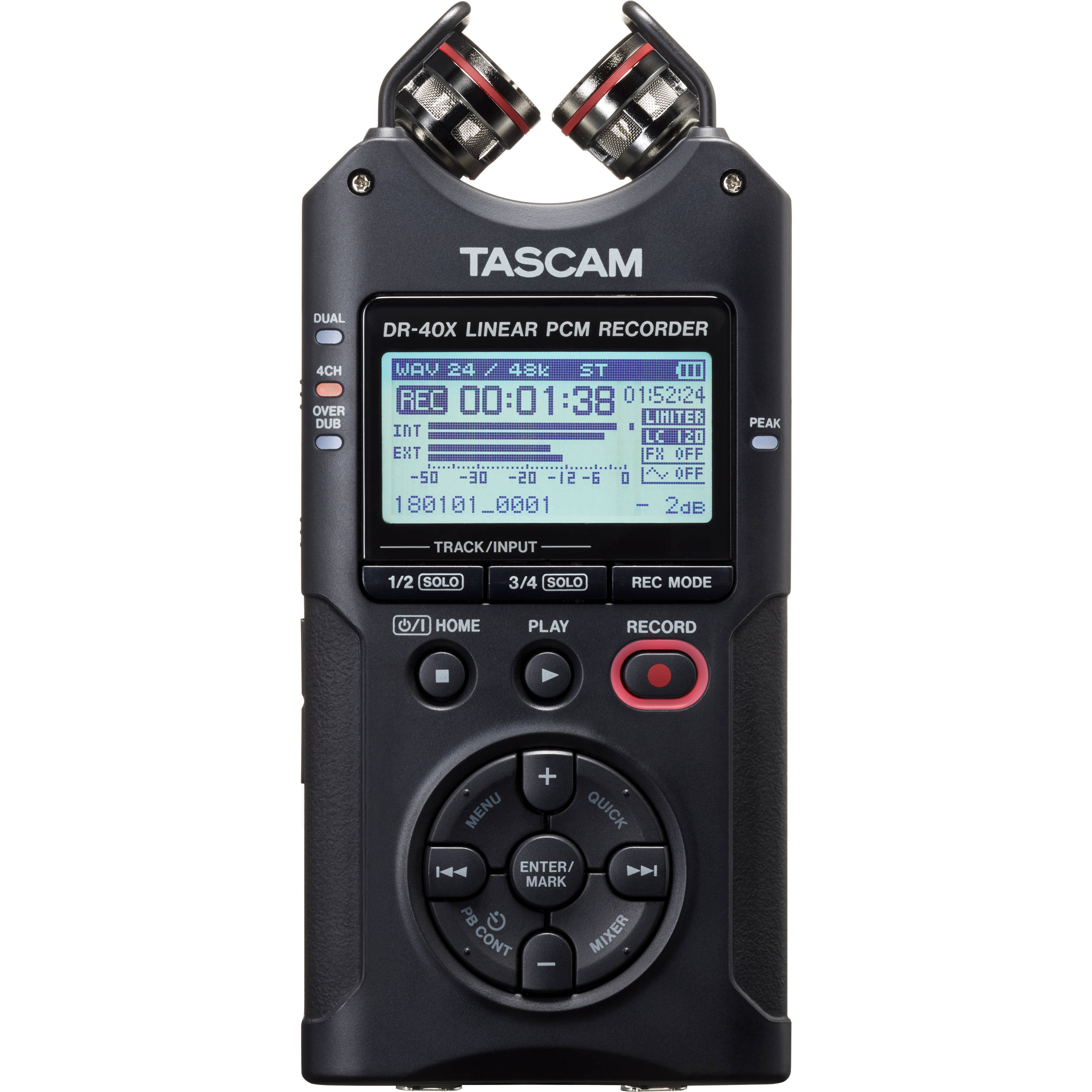 tascam dr 40x 4 channel 4 track portable audio recorder dr 40x. Black Bedroom Furniture Sets. Home Design Ideas
